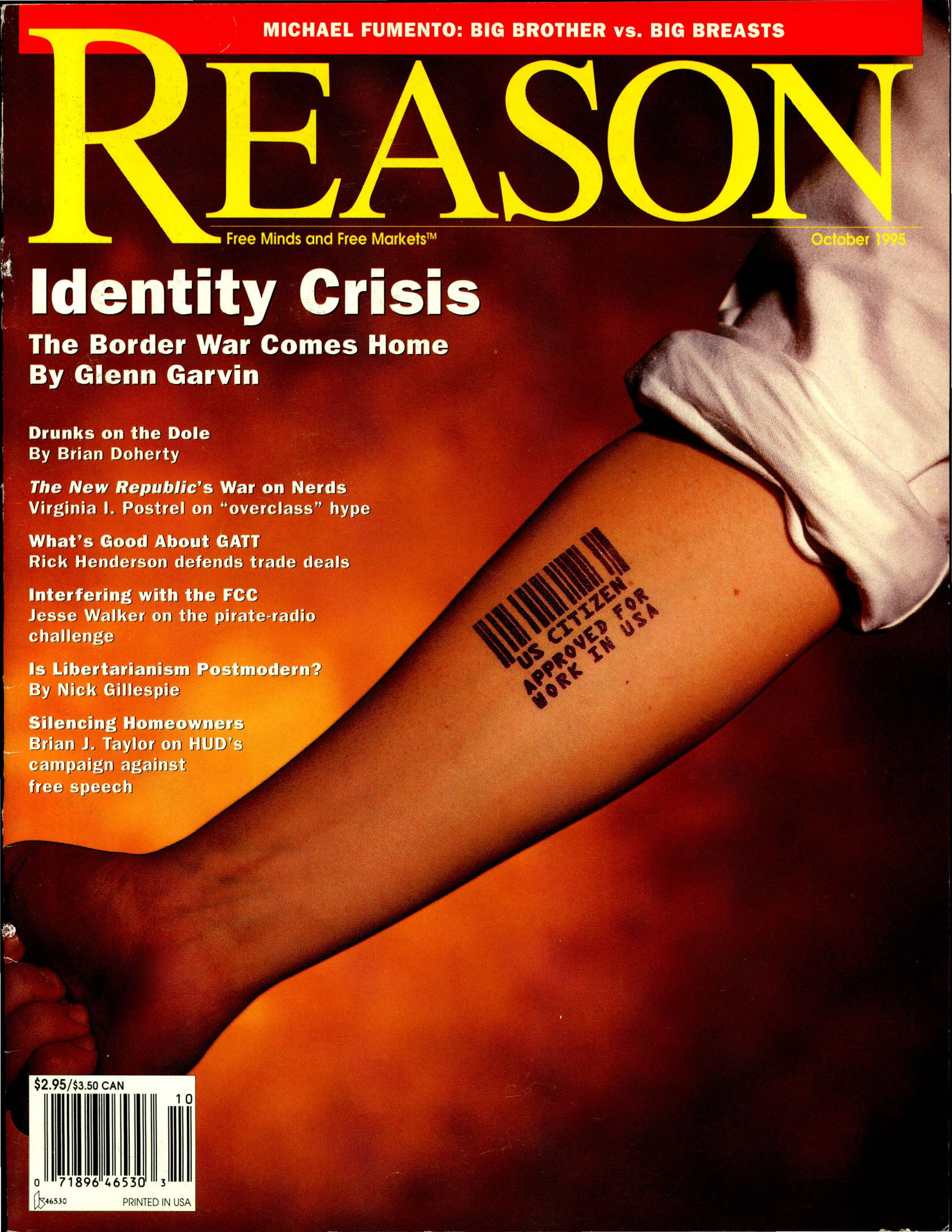 Reason Magazine, October 1995 cover image