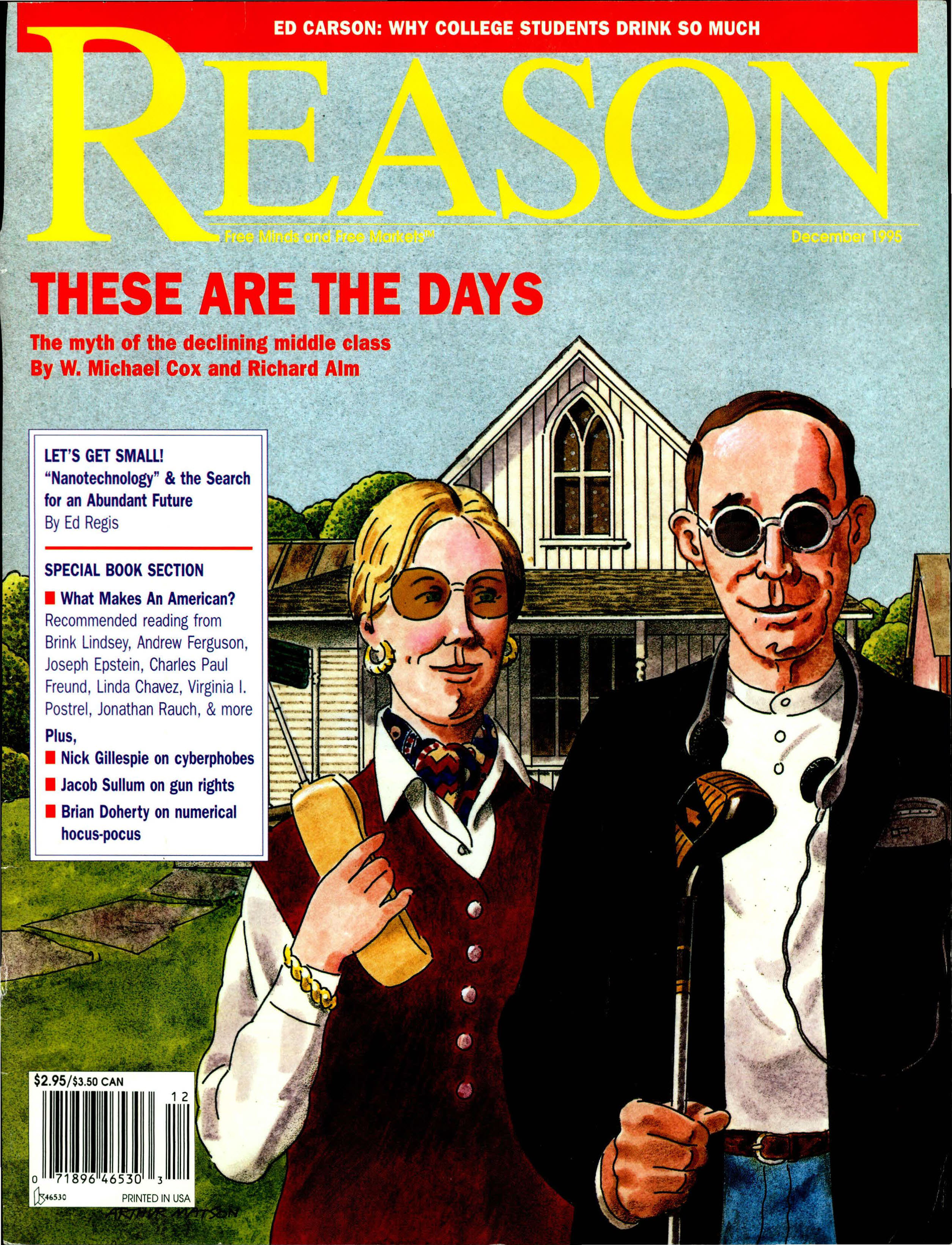 Reason Magazine, December 1995 cover image