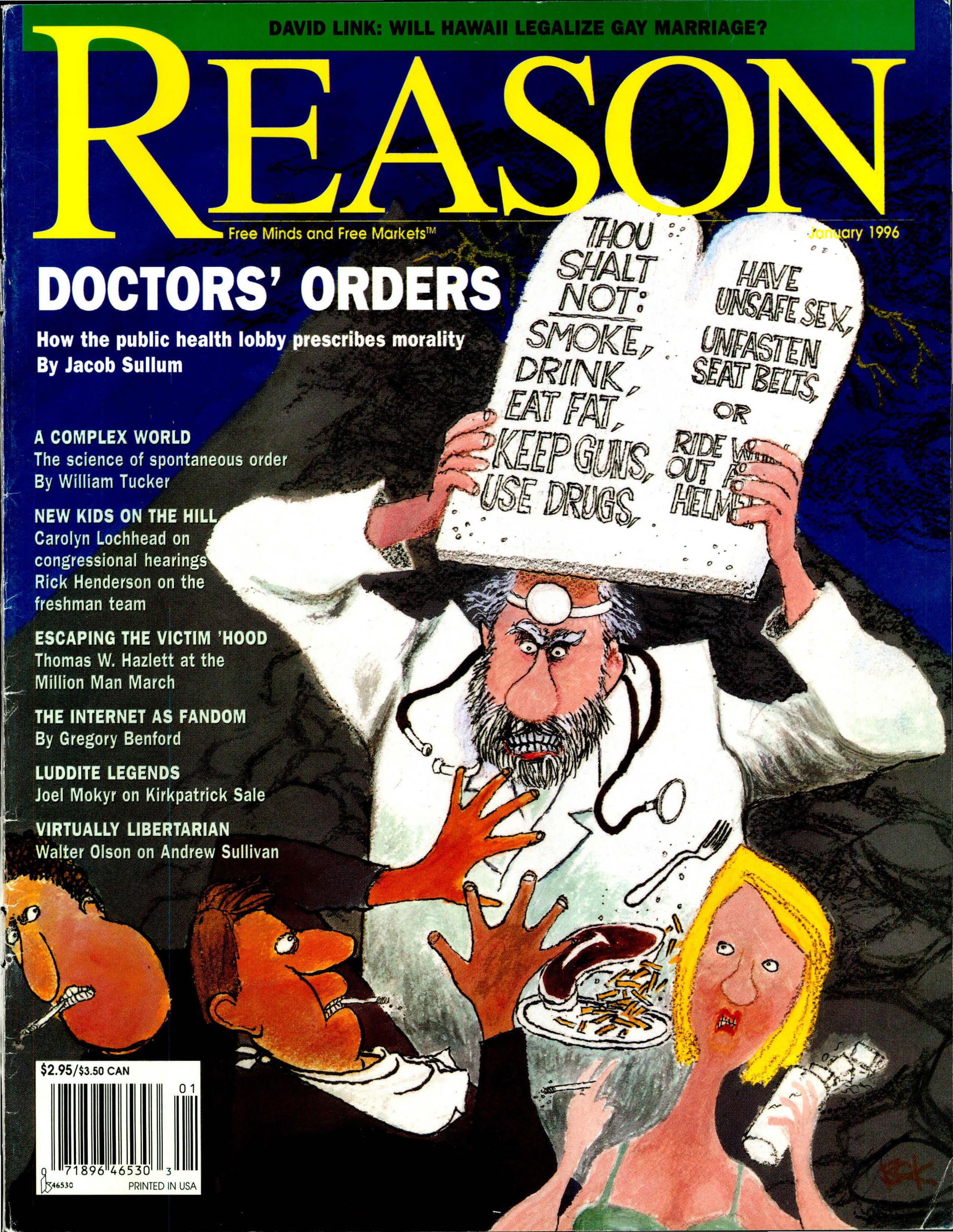 Reason Magazine, January 1996 cover image