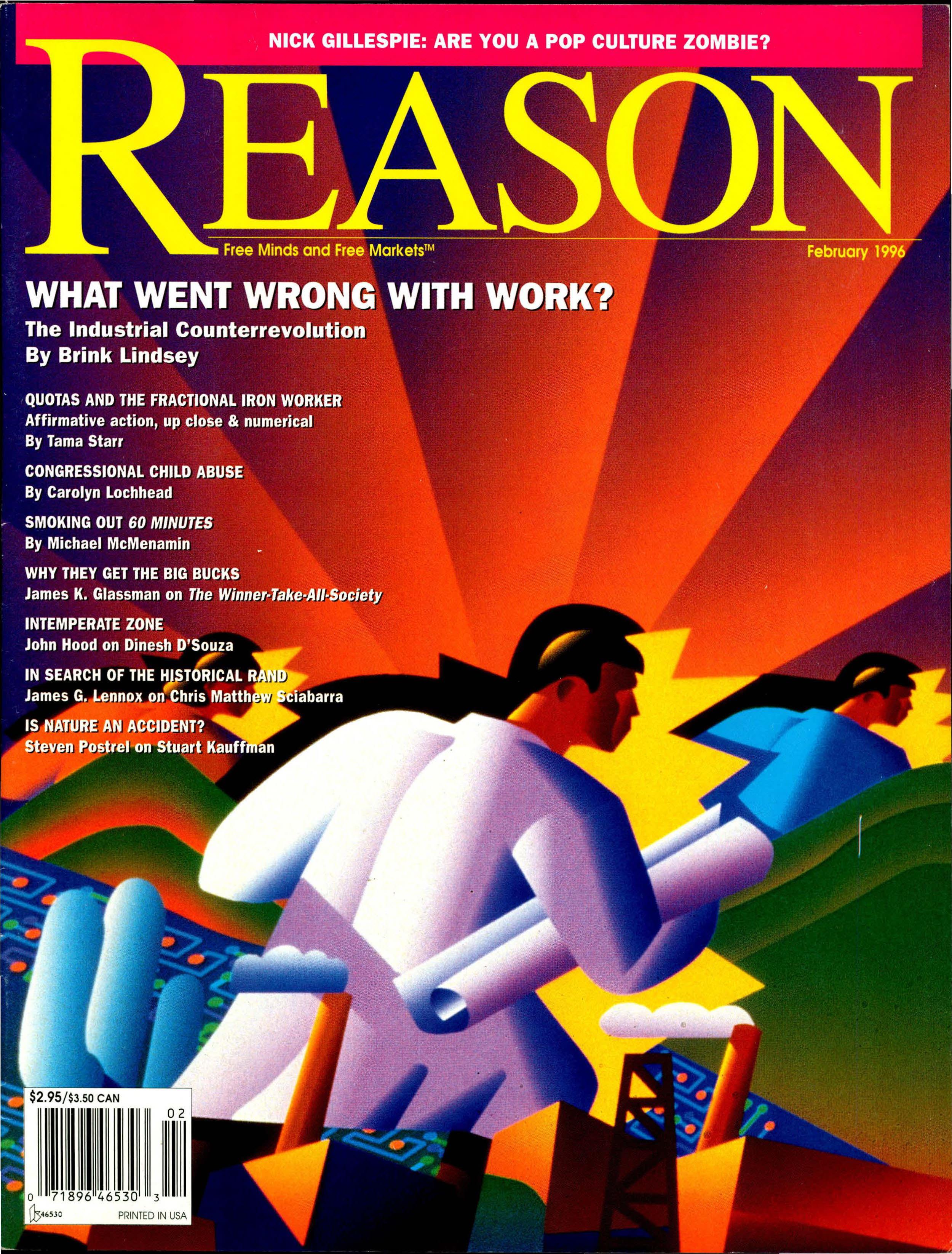 Reason Magazine, February 1996 cover image