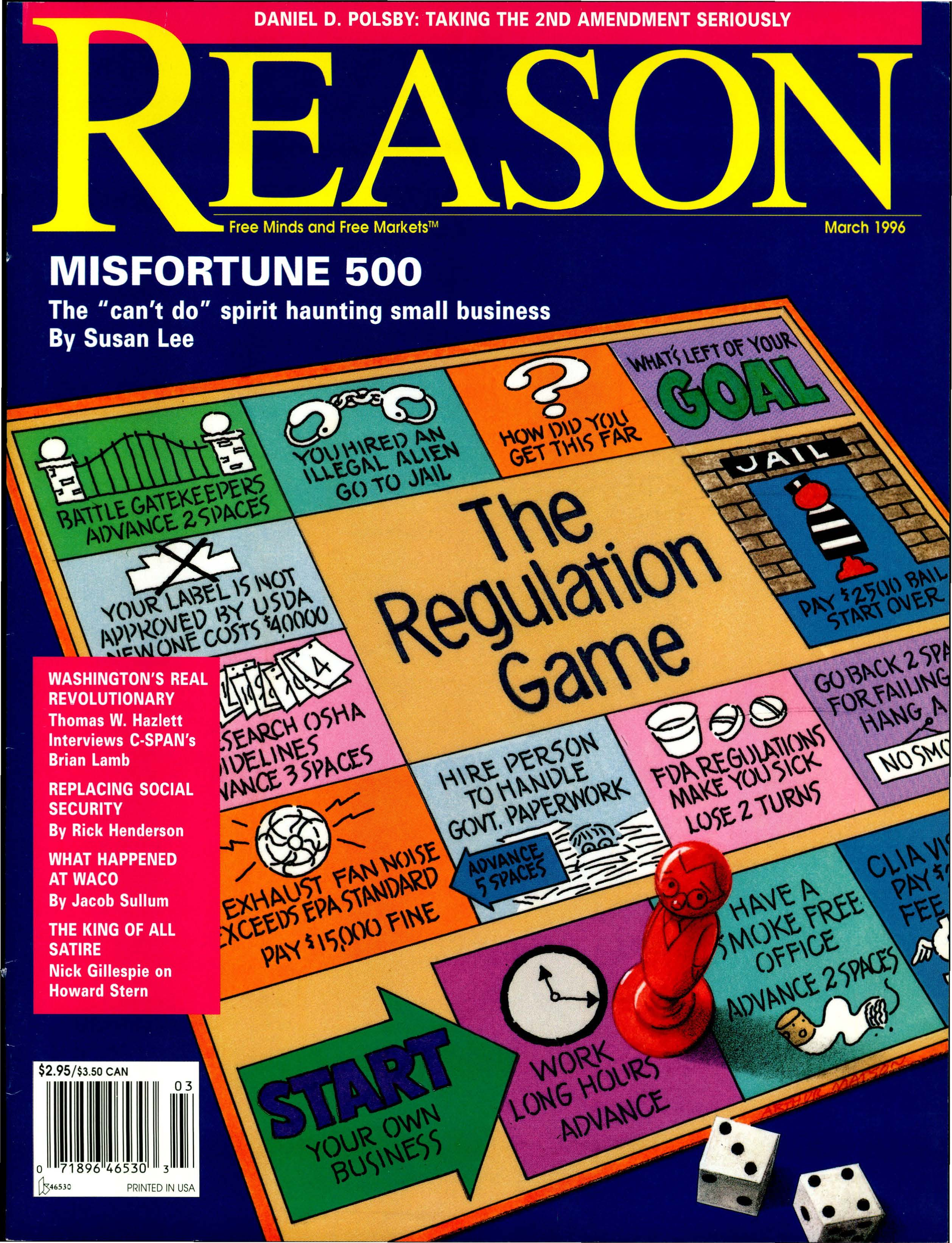 Reason Magazine, March 1996 cover image