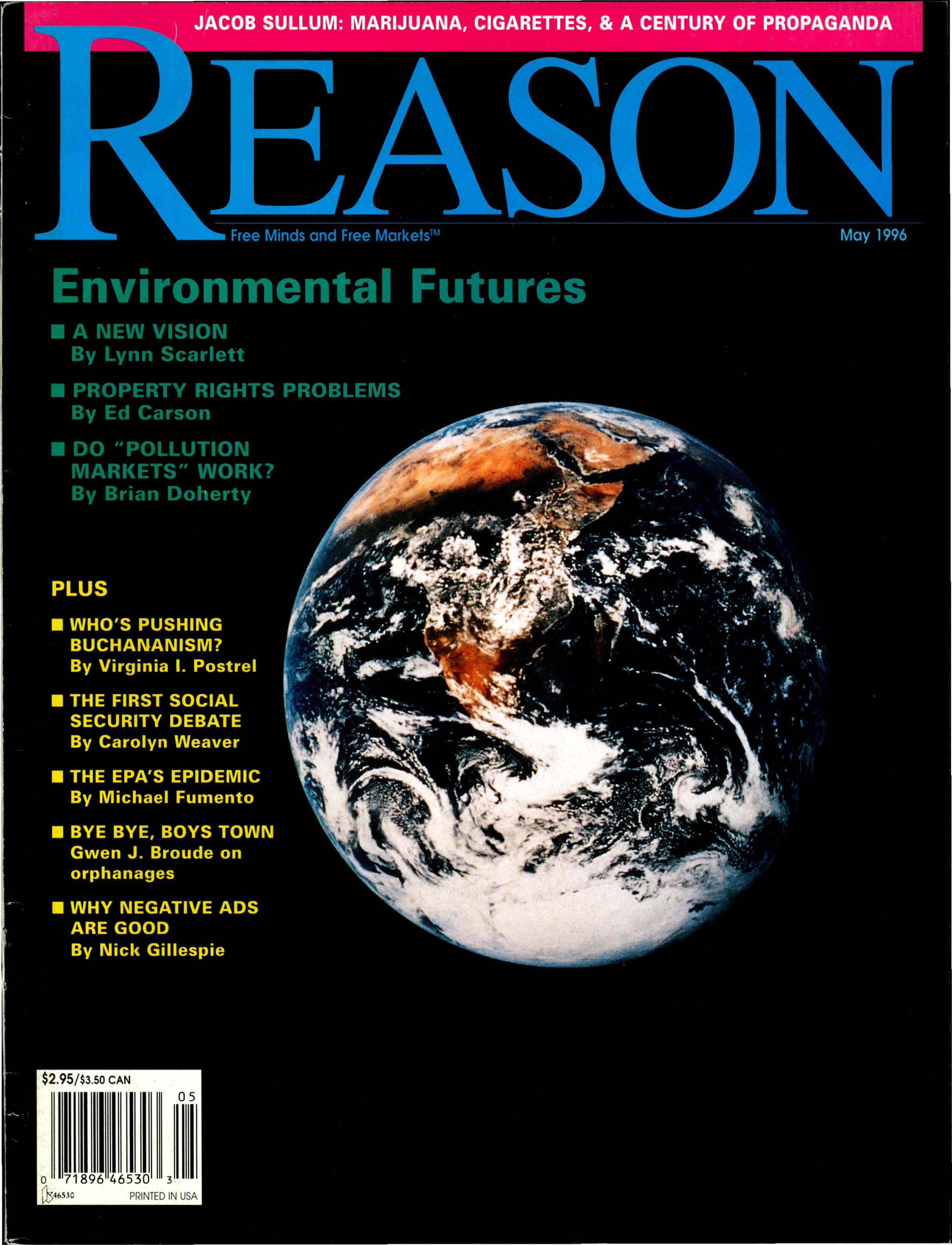 Reason Magazine, May 1996 cover image