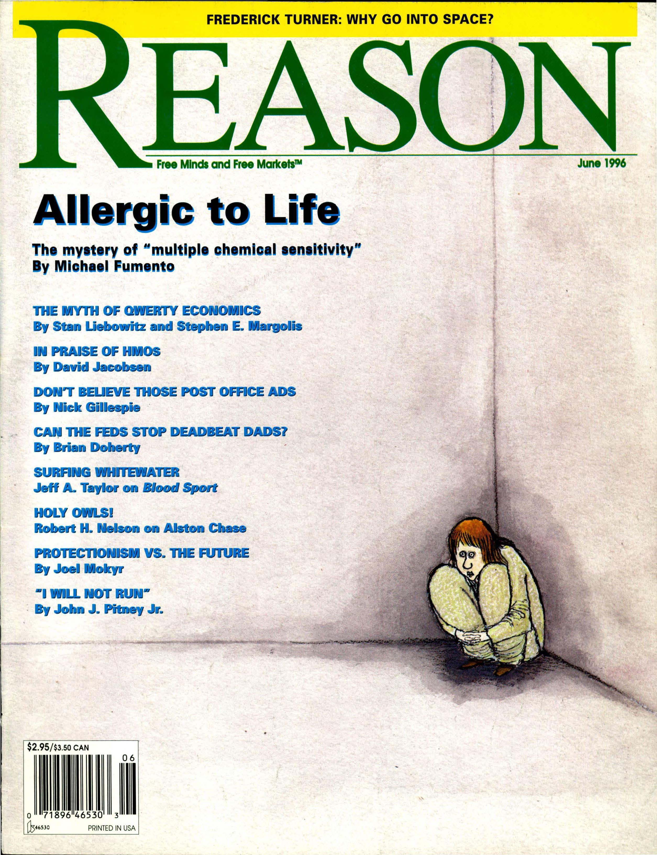 Reason Magazine, June 1996 cover image