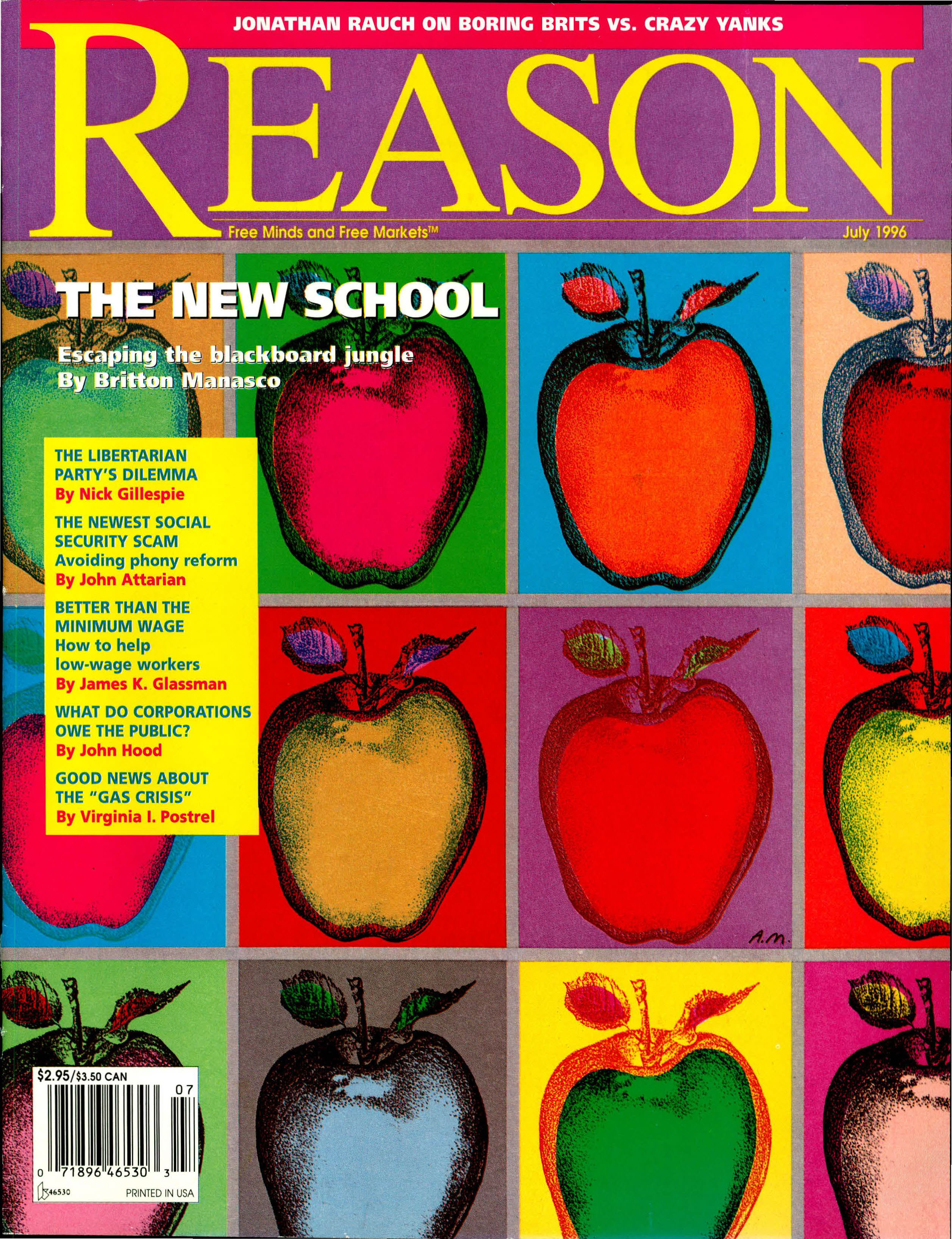 Reason Magazine, July 1996 cover image