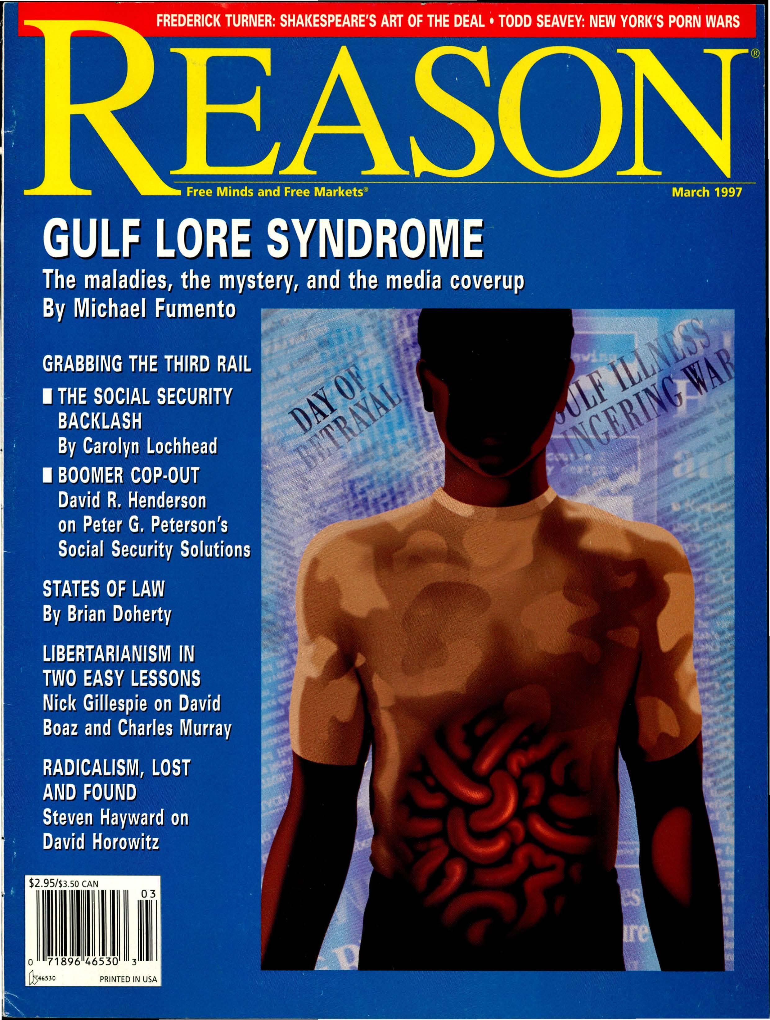 Reason Magazine, March 1997 cover image