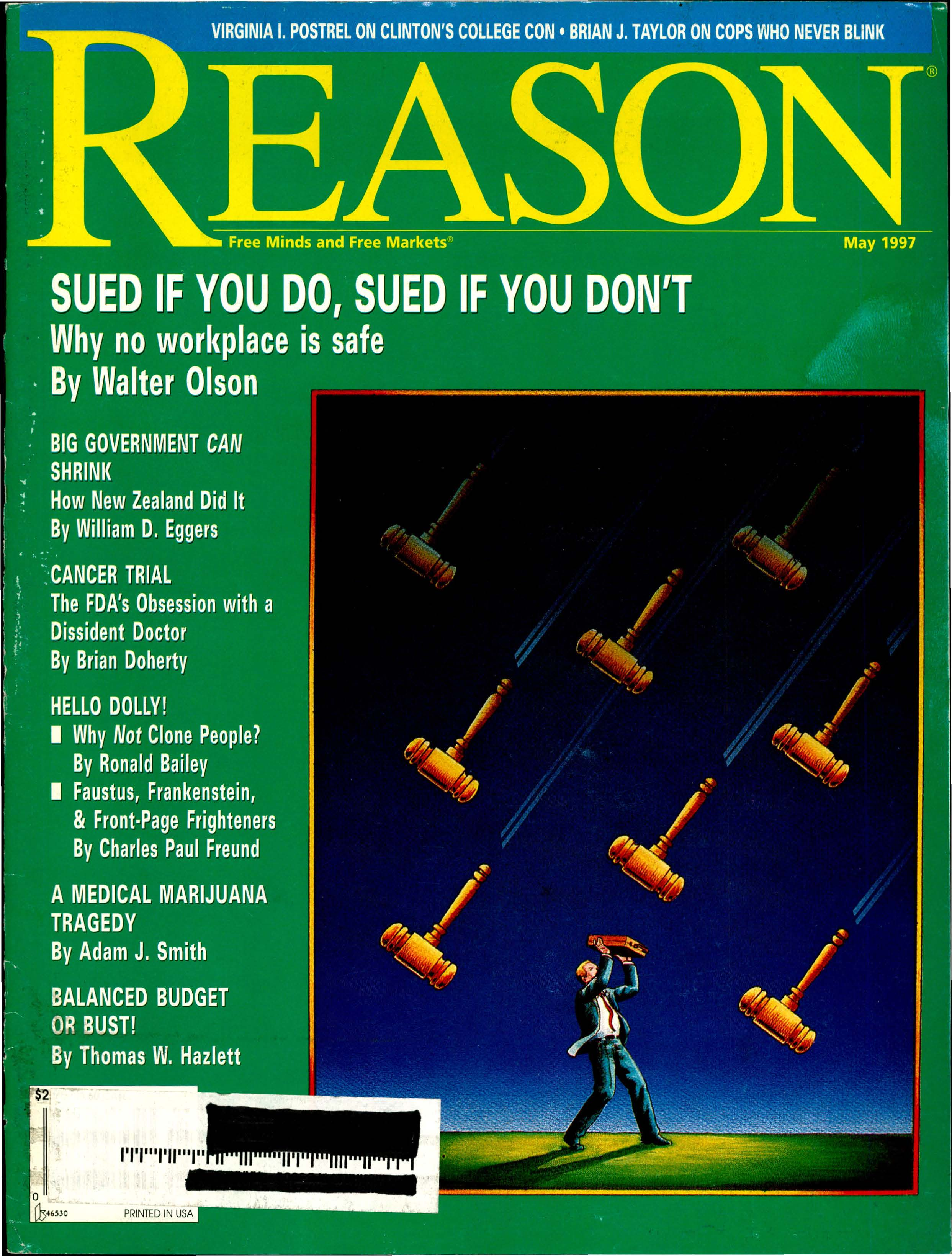 Reason Magazine, May 1997 cover image