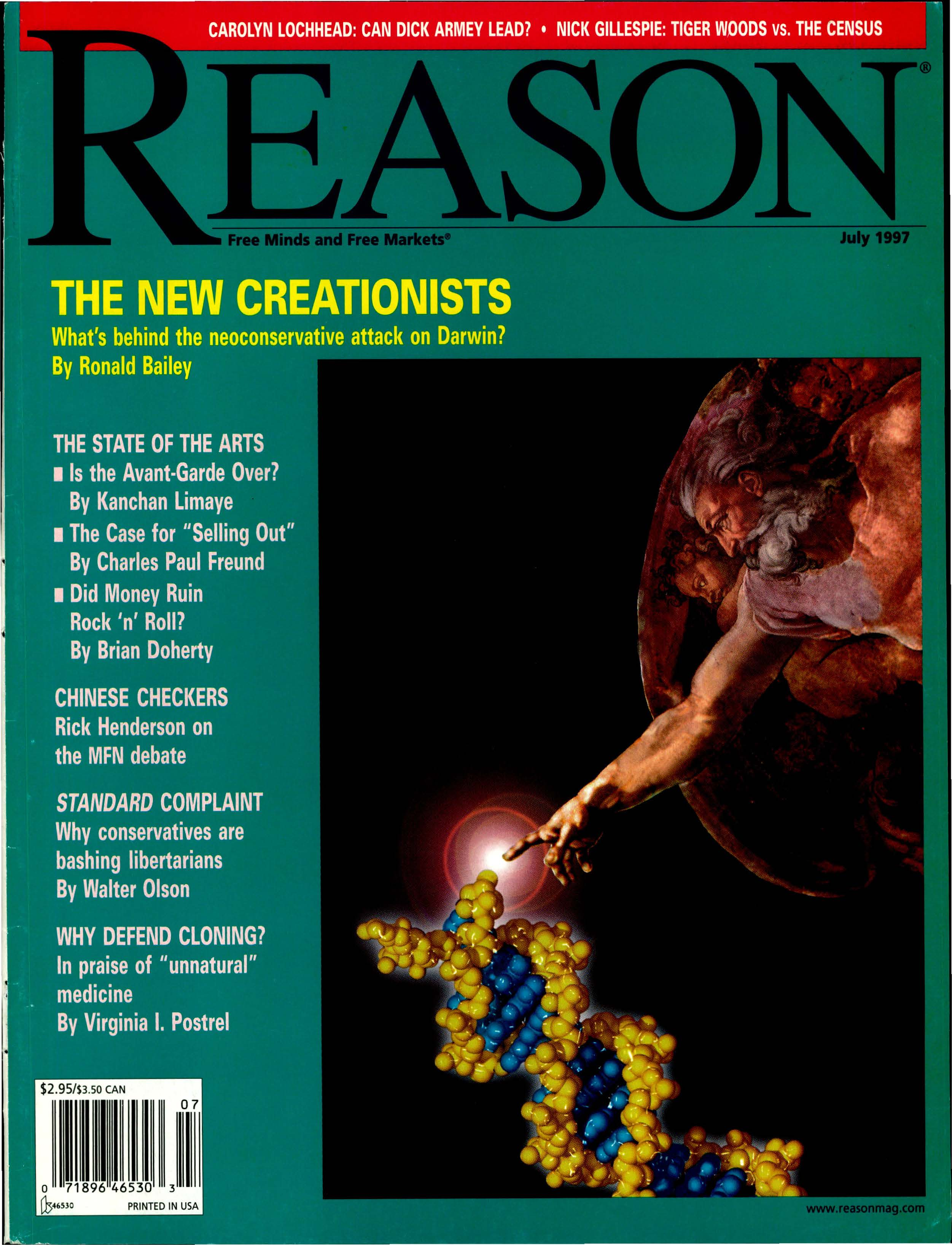Reason Magazine, July 1997 cover image