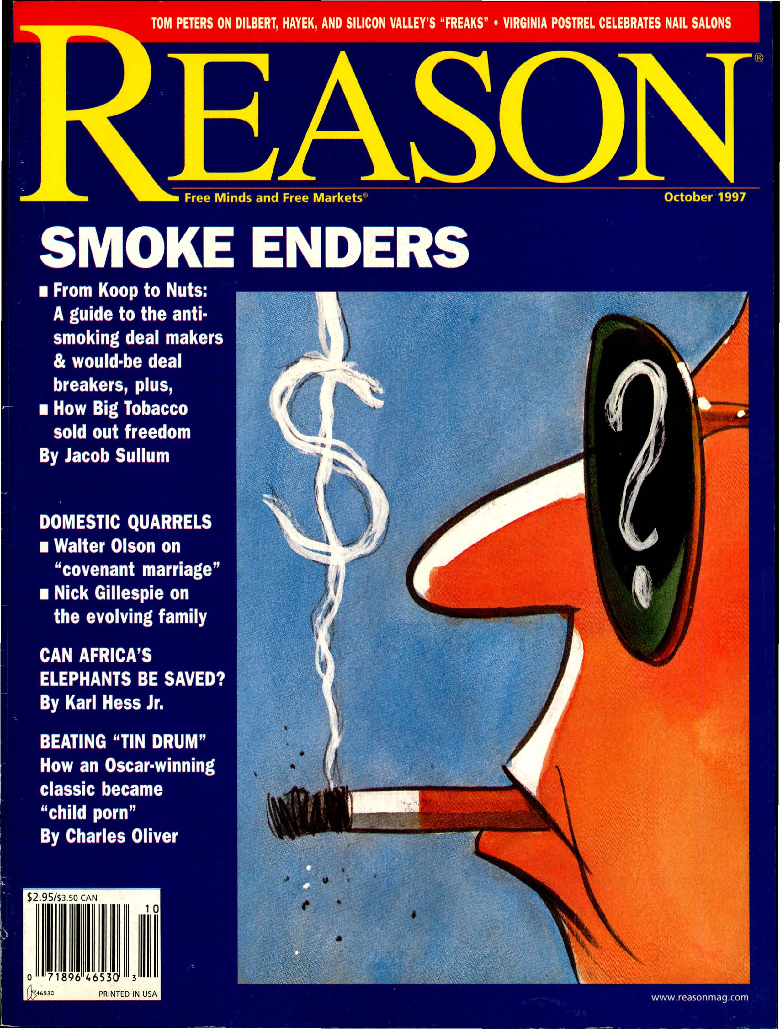 Reason Magazine, October 1997 cover image