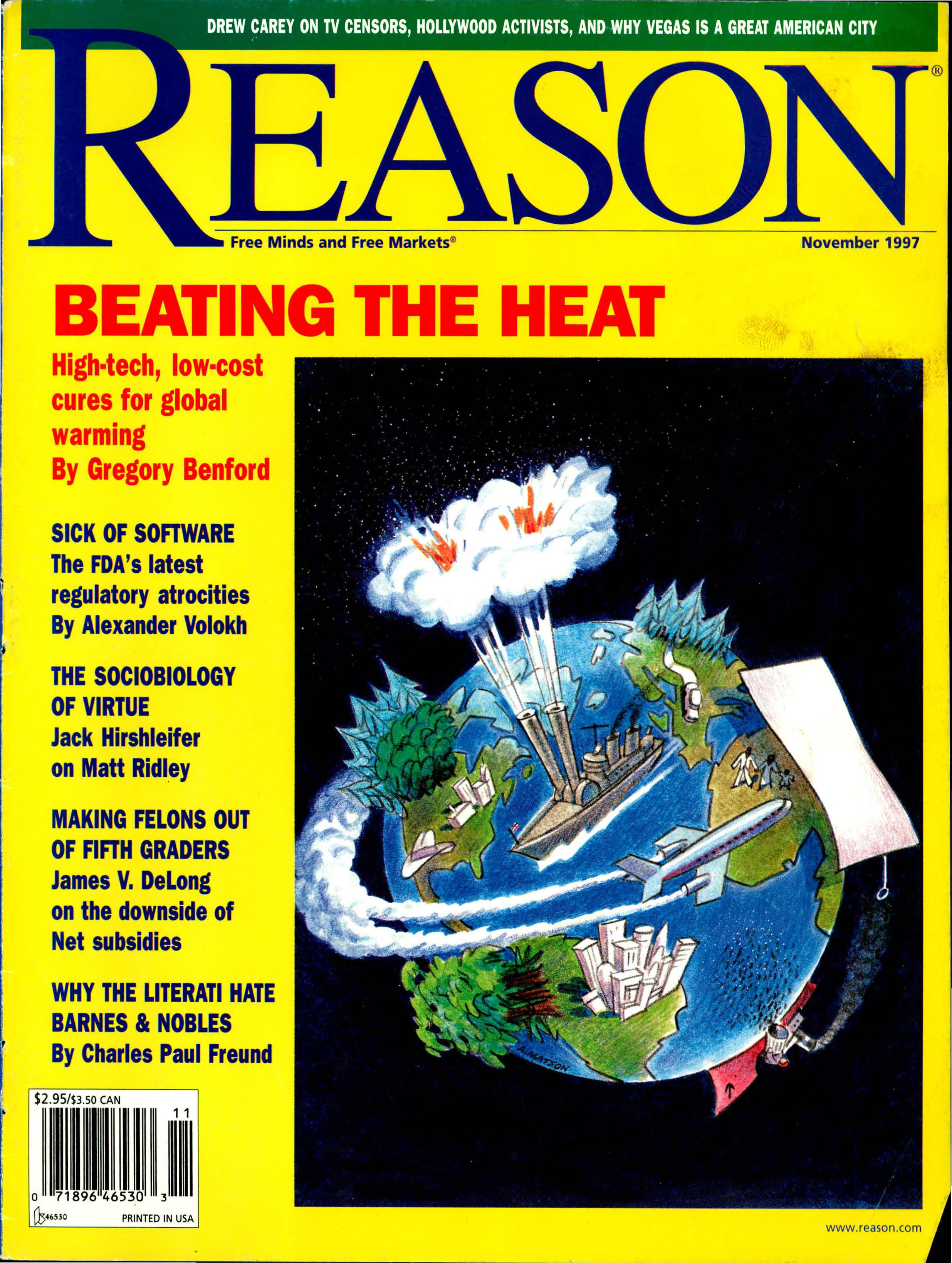 Reason Magazine, November 1997 cover image