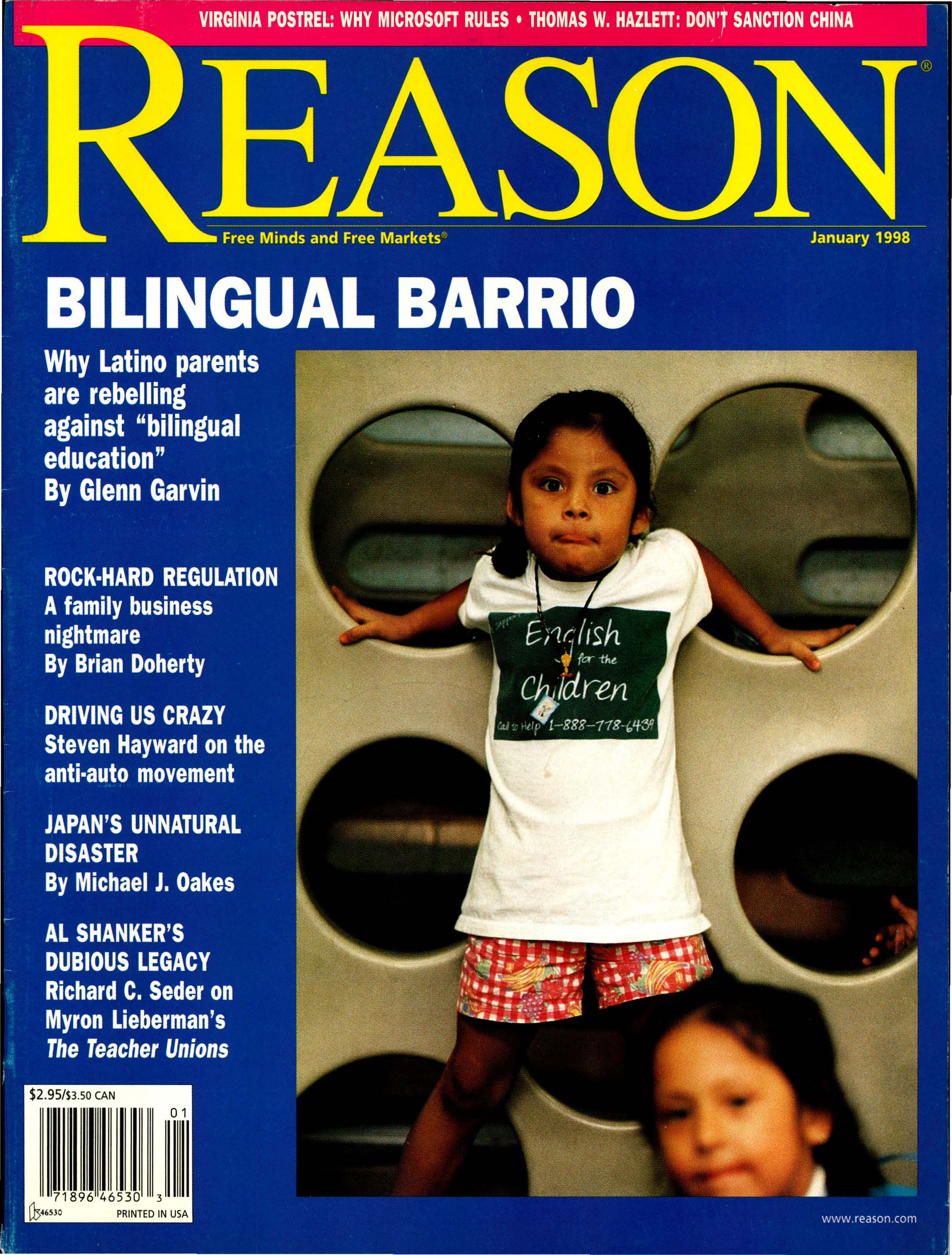 Reason Magazine, January 1998 cover image