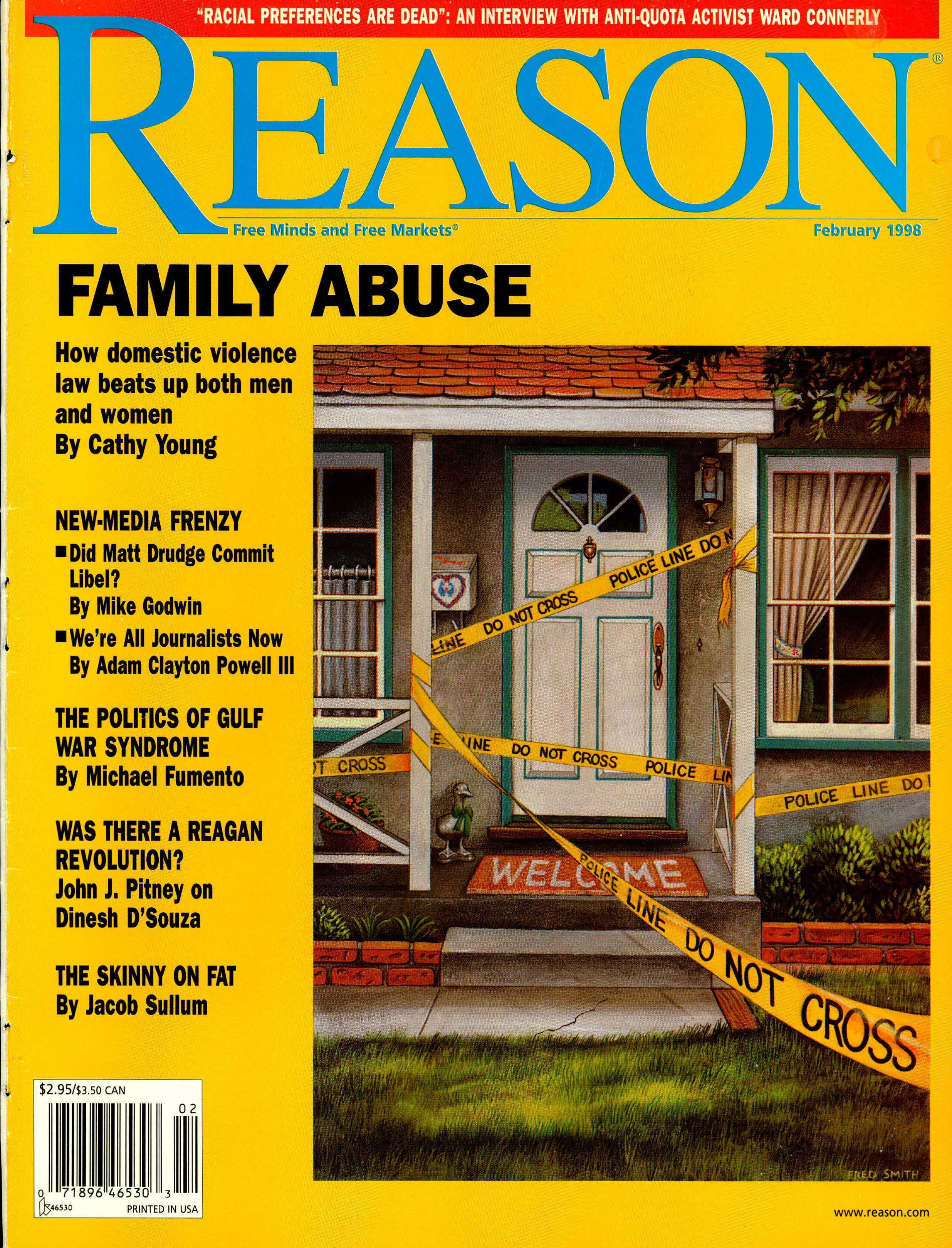 Reason Magazine, February 1998 cover image