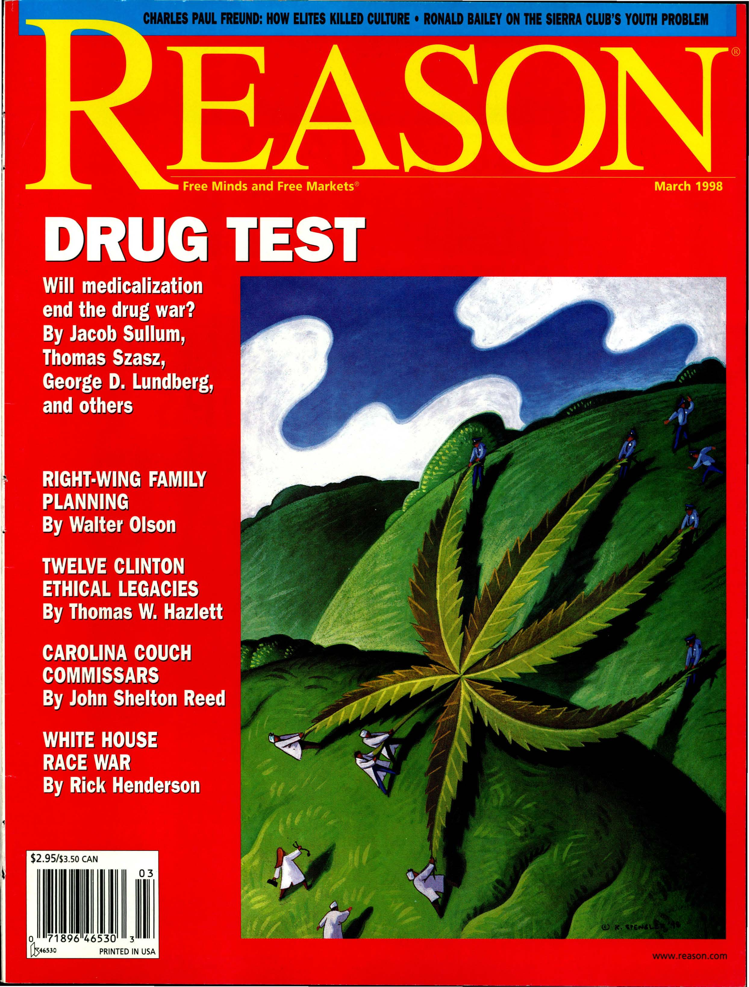 Reason Magazine, March 1998 cover image