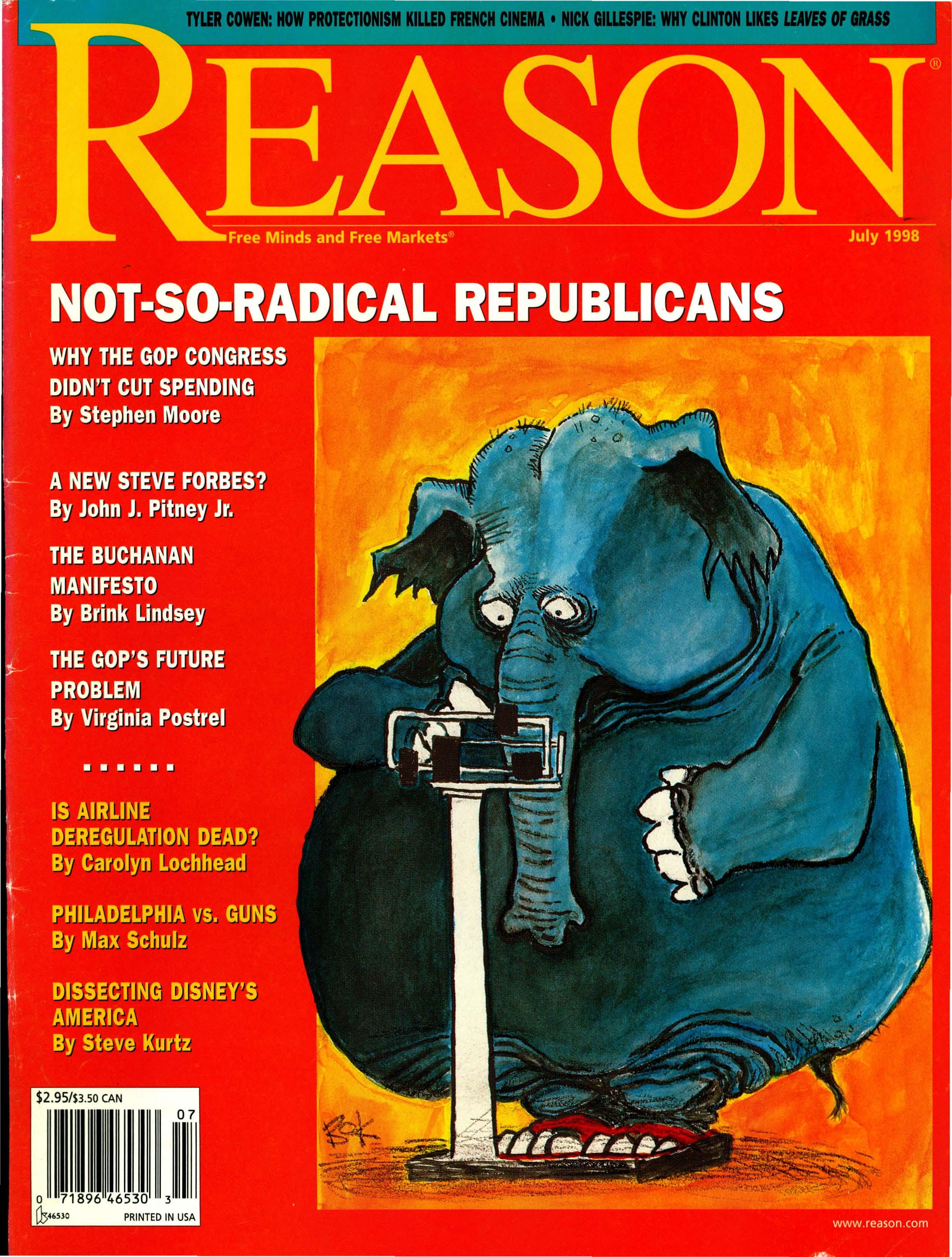 Reason Magazine, July 1998 cover image