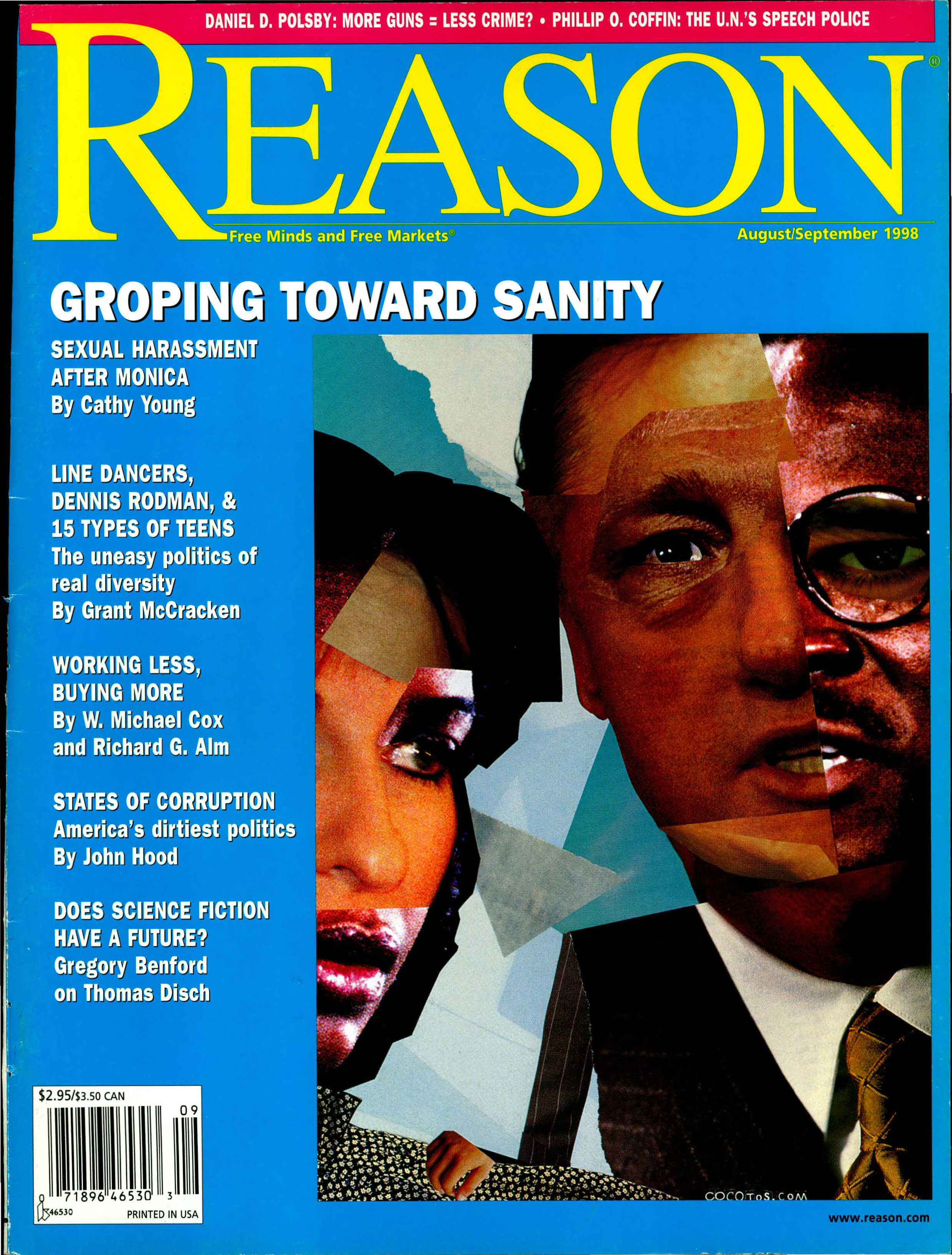 Reason Magazine, August/September 1998 cover image