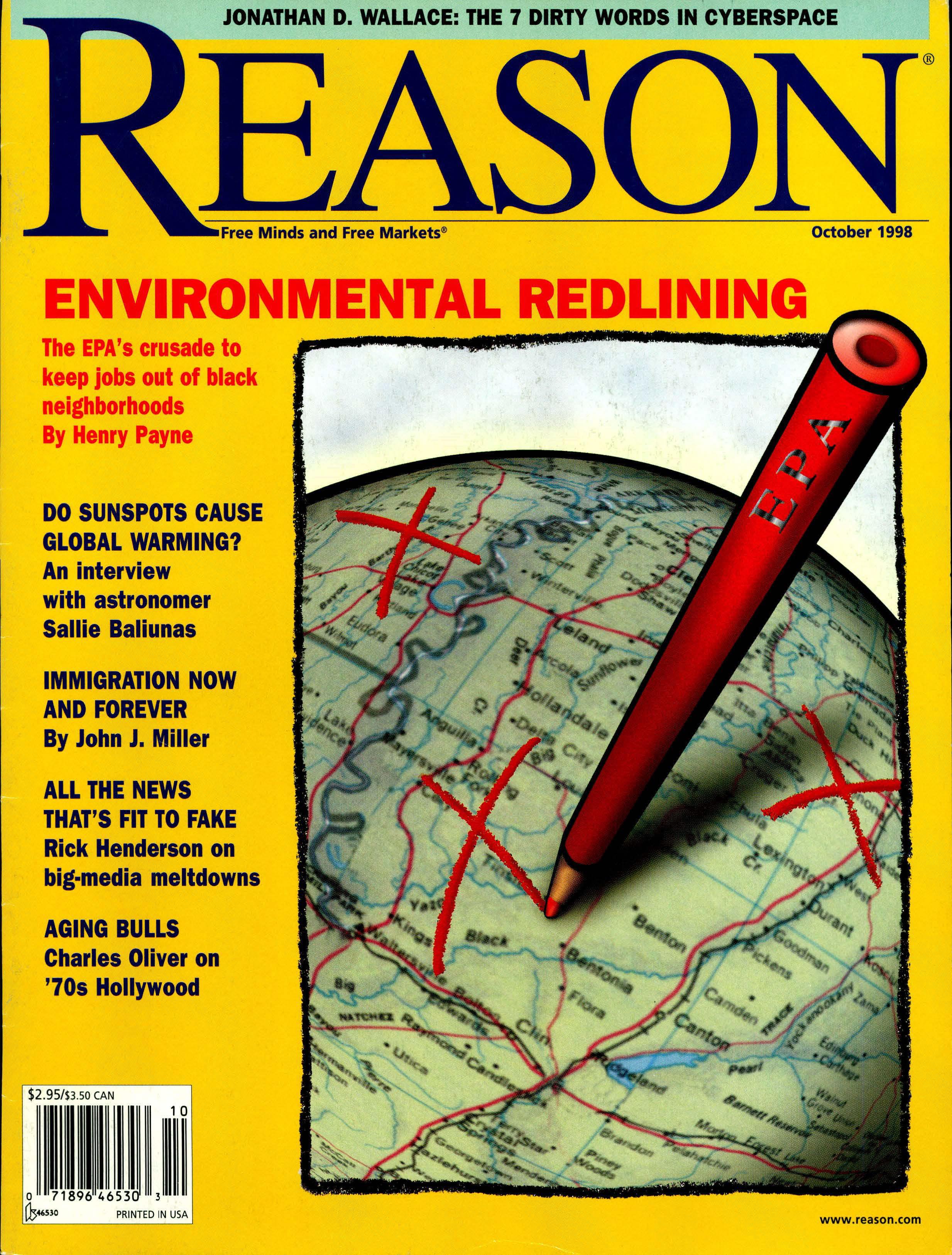 Reason Magazine, October 1998 cover image