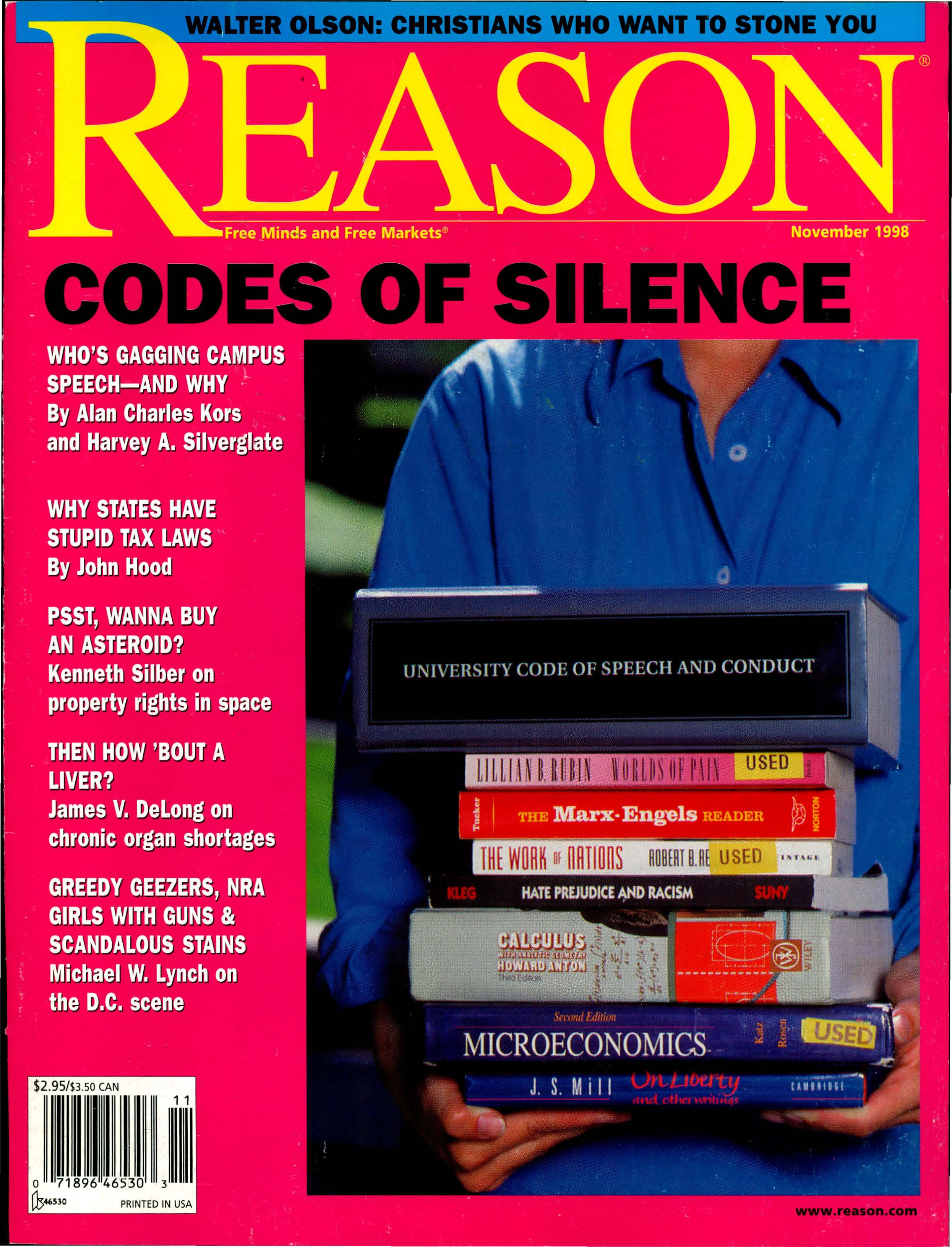 Reason Magazine, November 1998 cover image