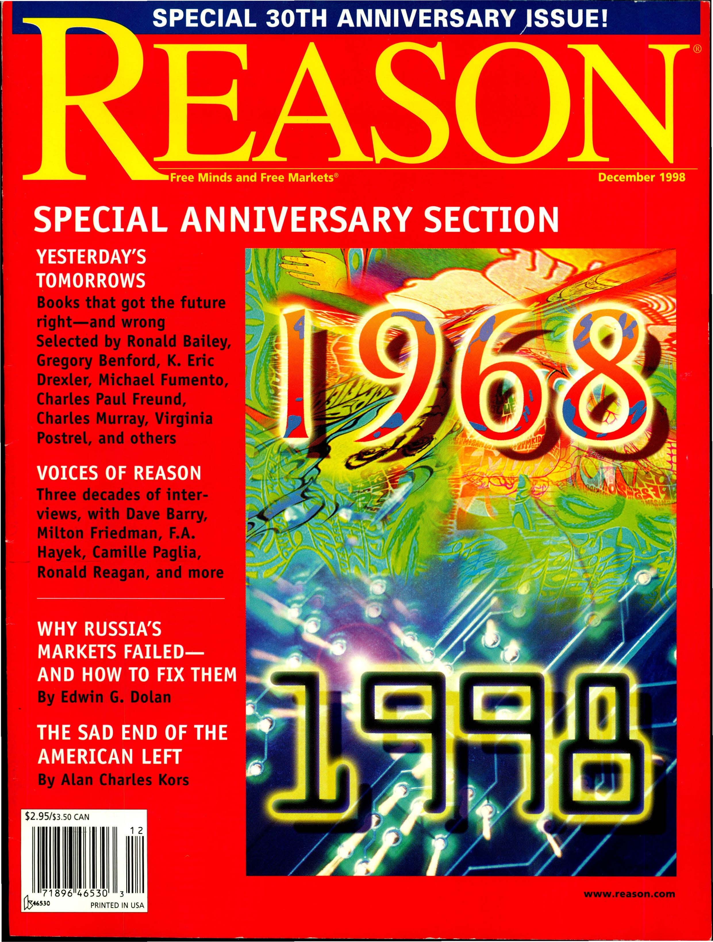 Reason Magazine, December 1998 cover image