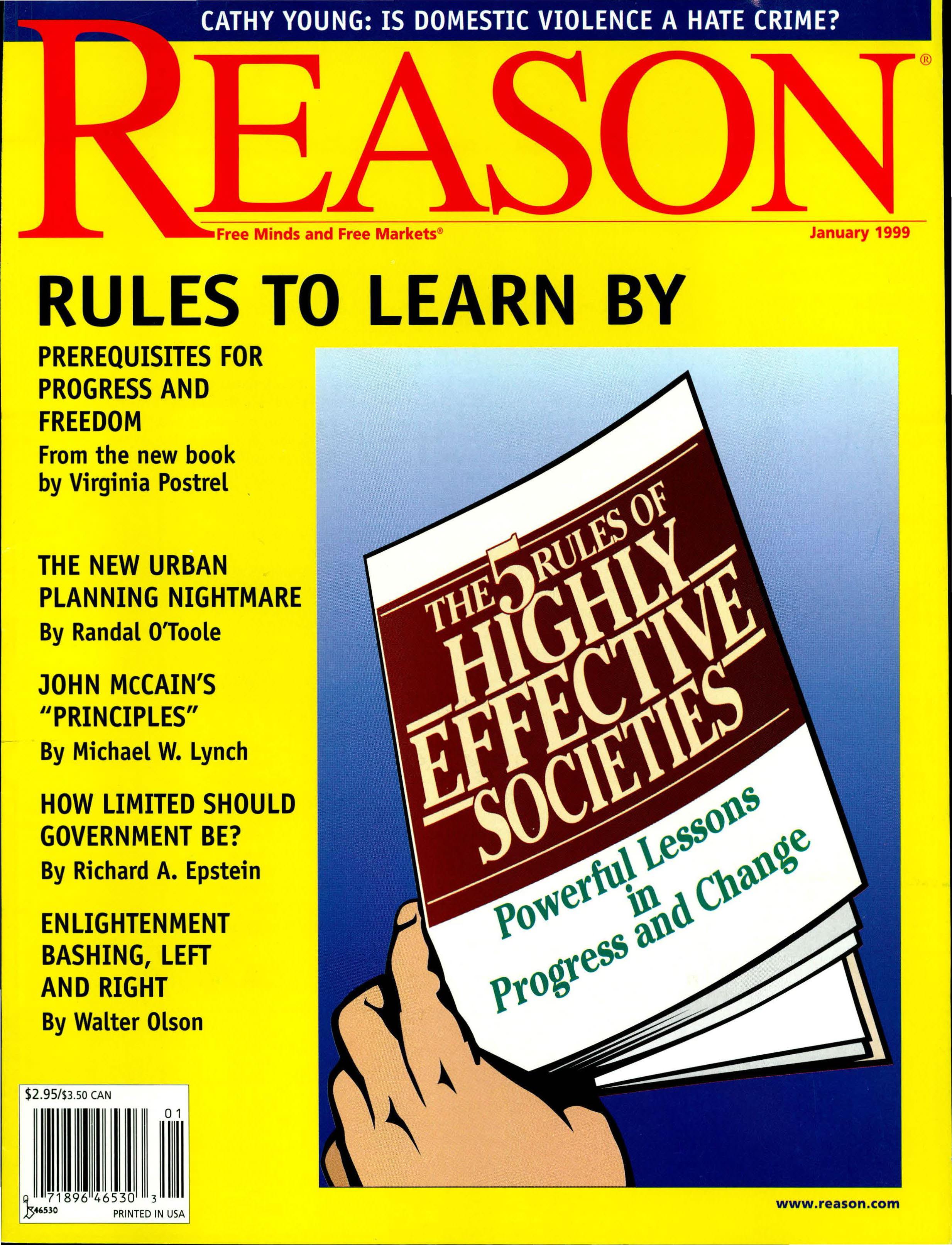 Reason Magazine, January 1999 cover image