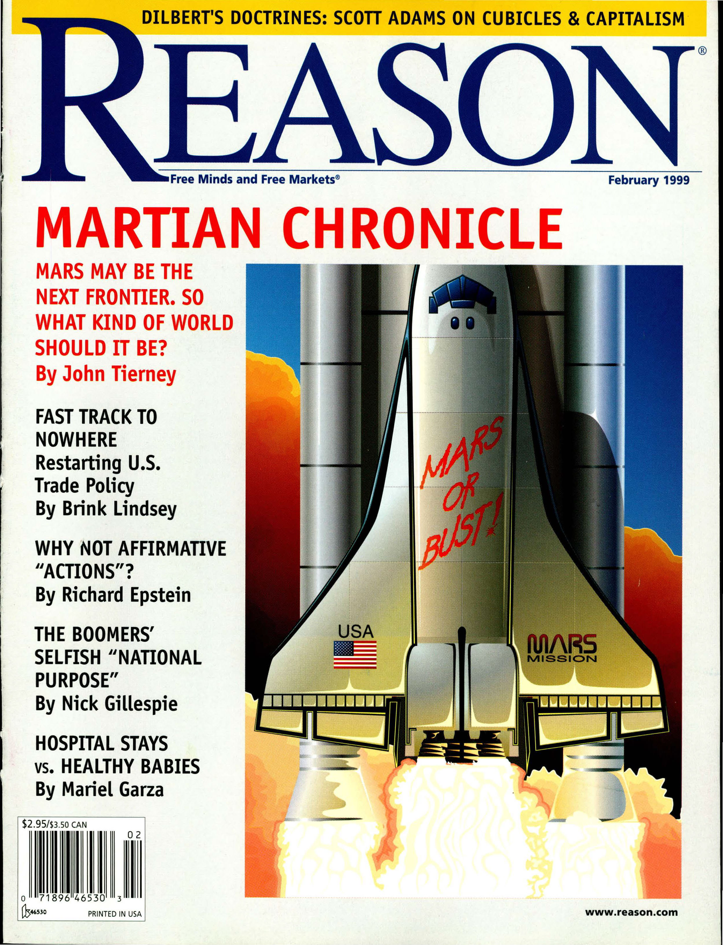 Reason Magazine, February 1999 cover image