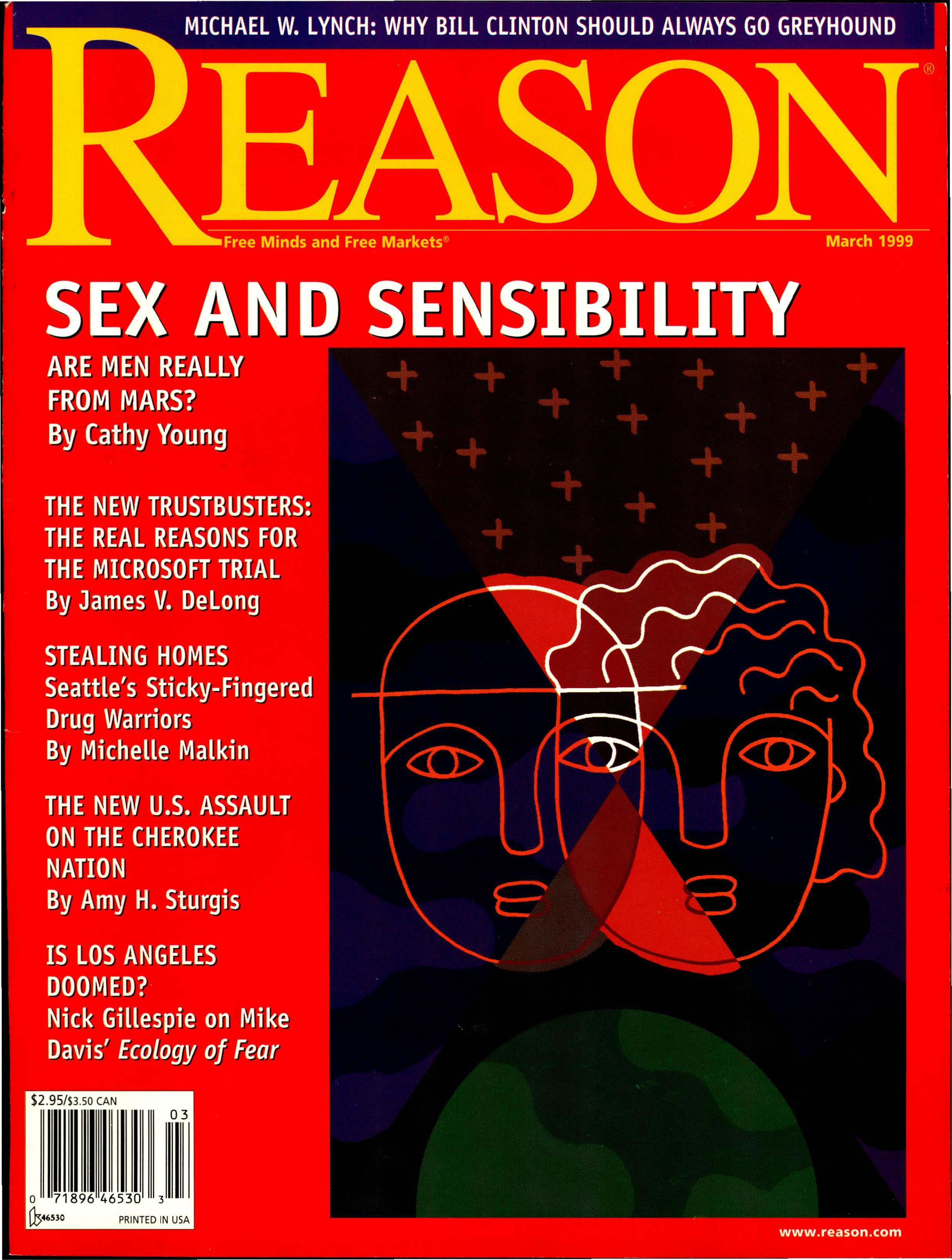 Reason Magazine, March 1999 cover image