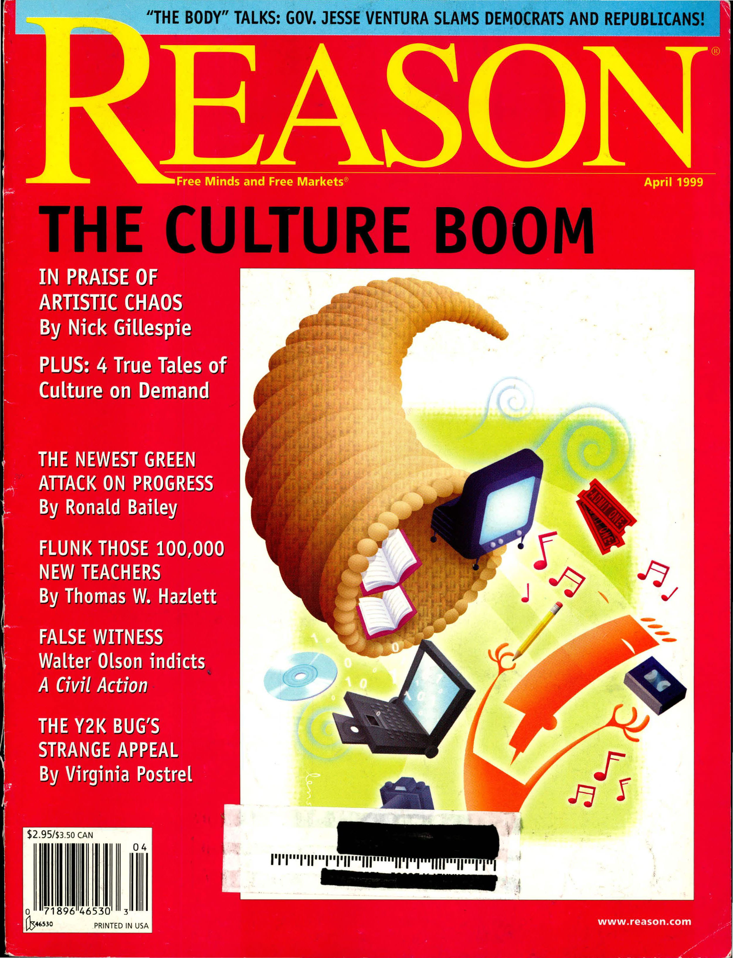 Reason Magazine, April 1999 cover image