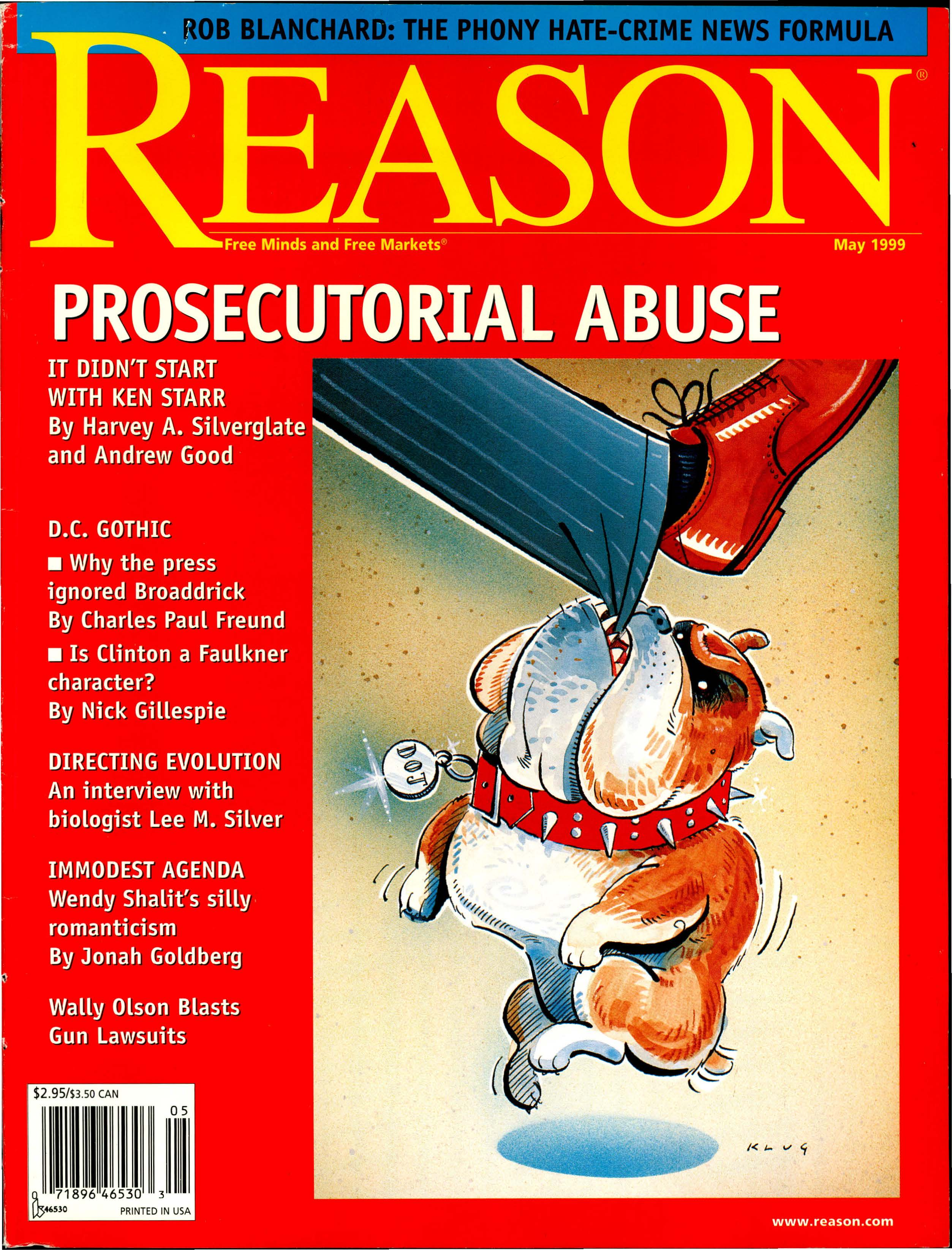 Reason Magazine, May 1999 cover image