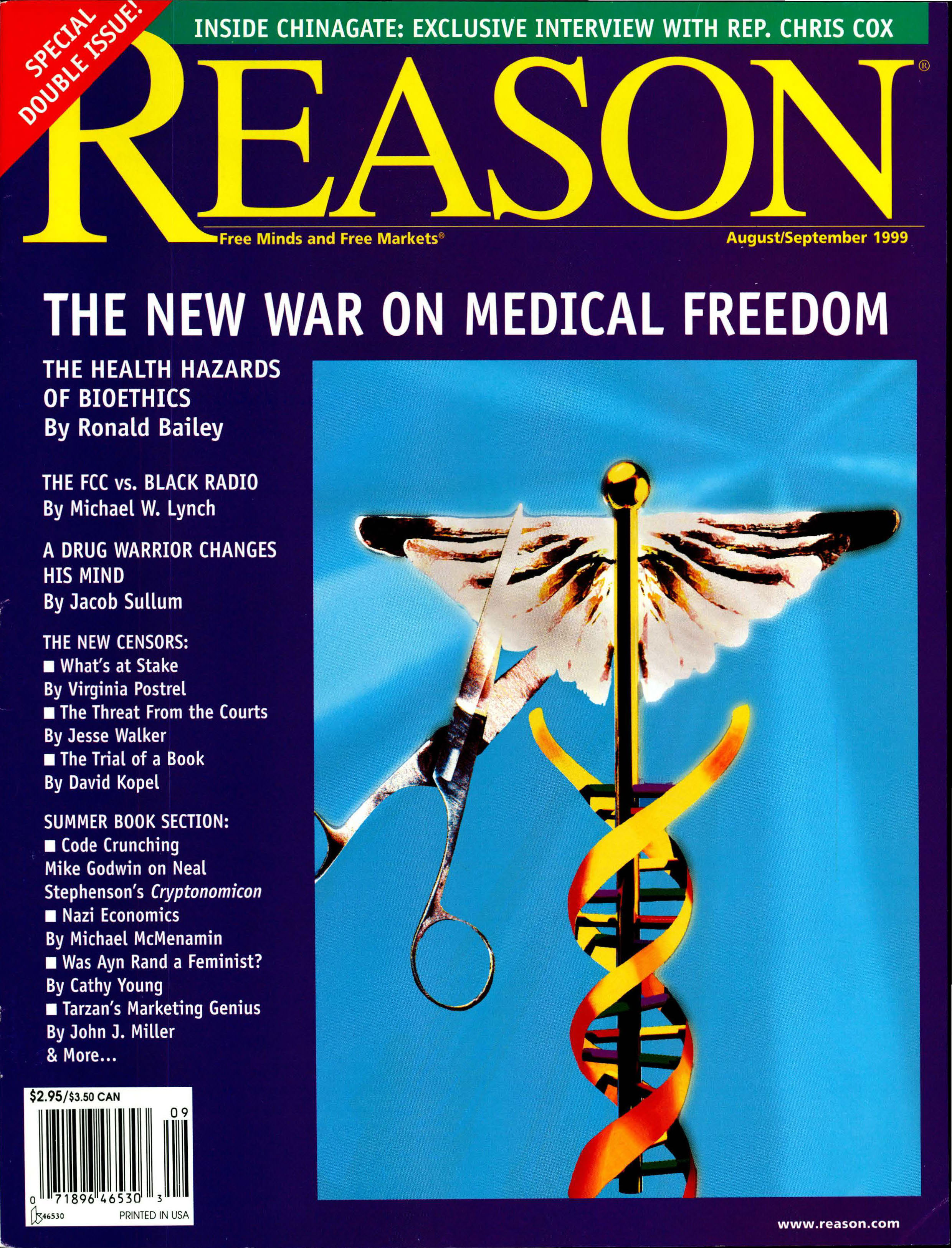 Reason Magazine, August/September 1999 cover image