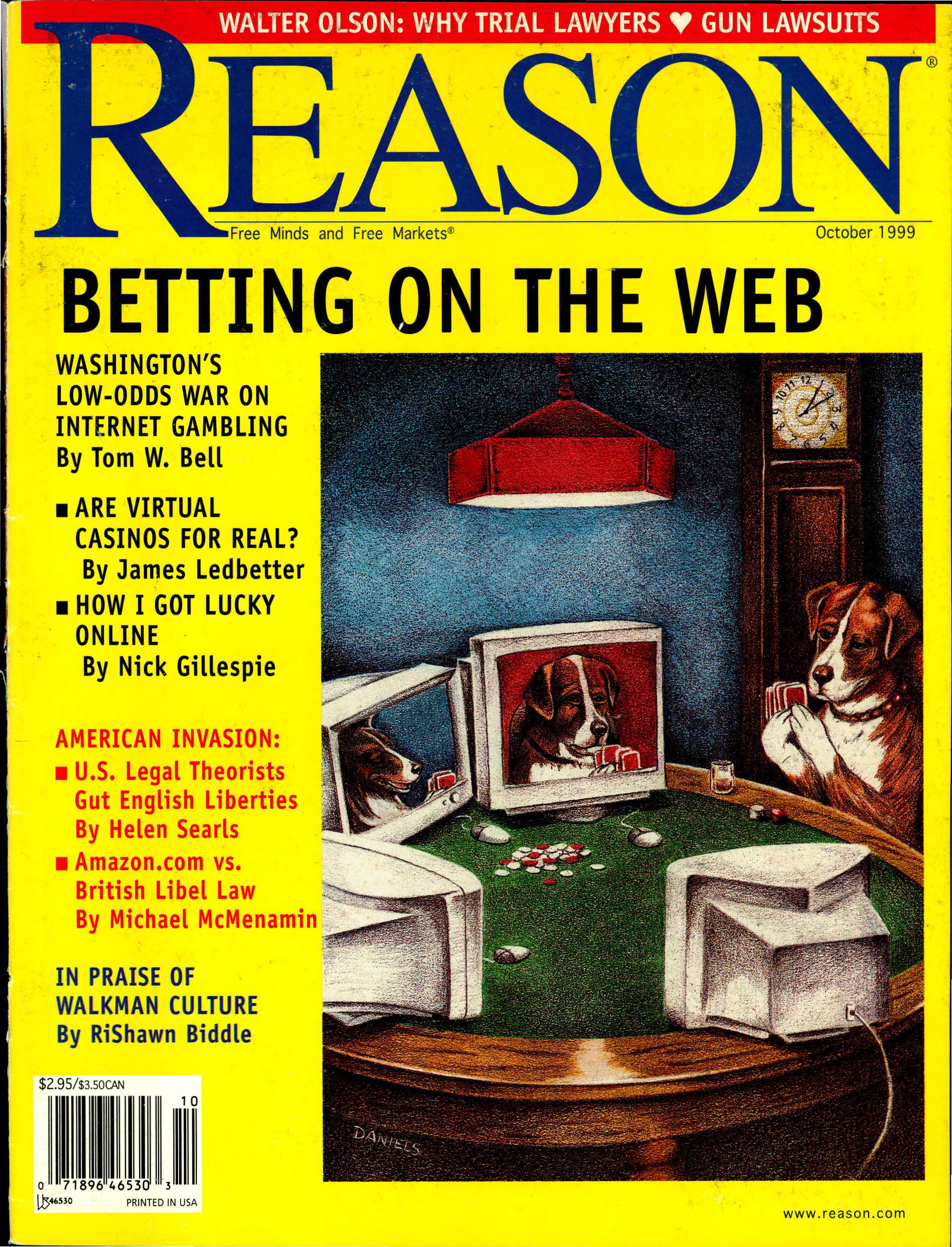 Reason Magazine, October 1999 cover image
