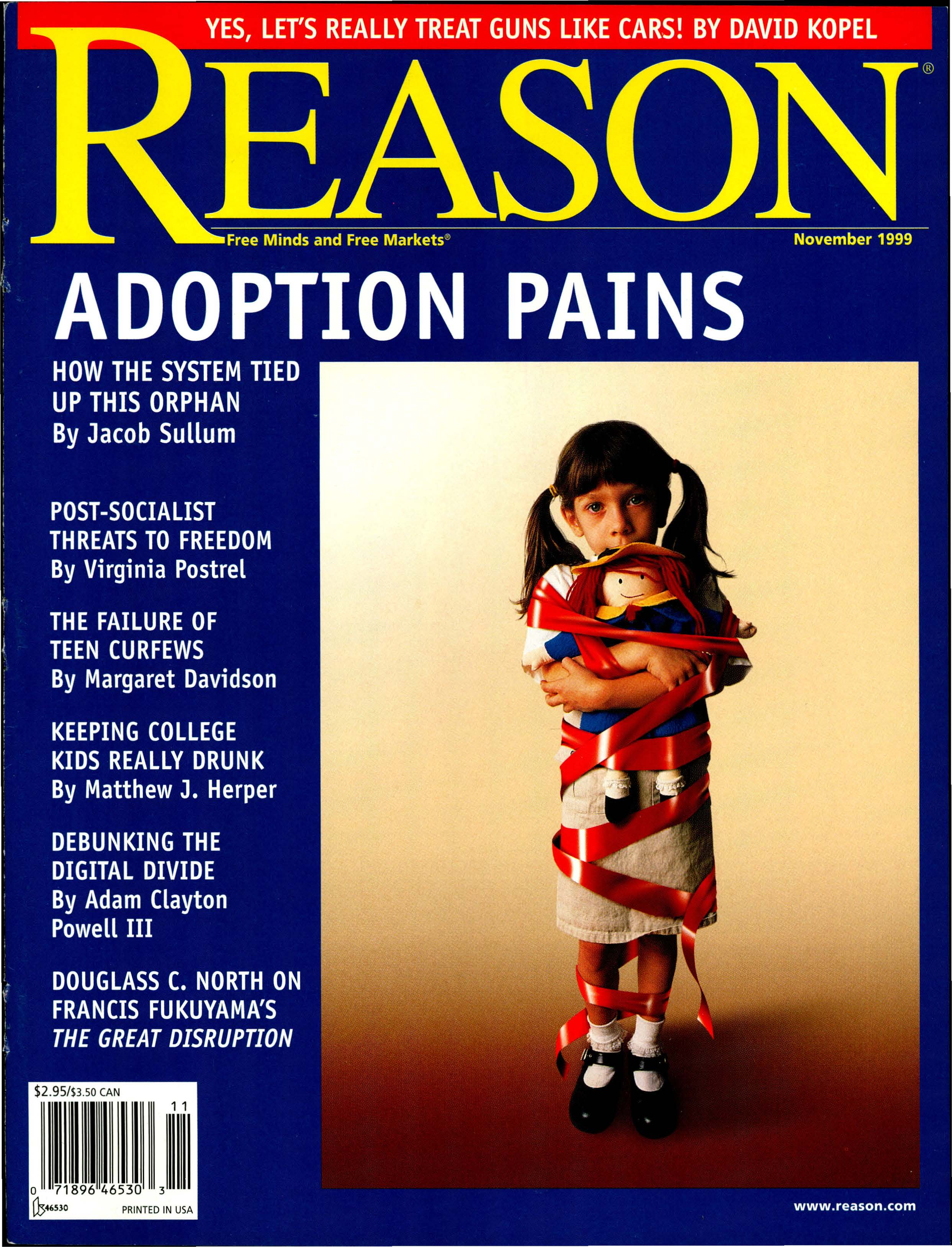 Reason Magazine, November 1999 cover image