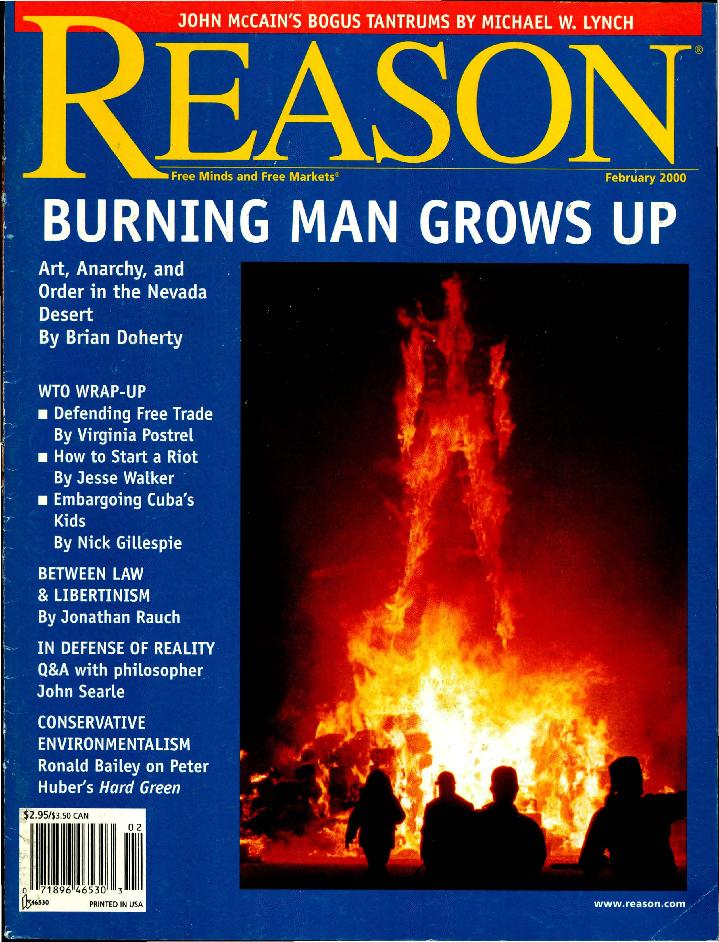 Reason Magazine, February 2000 cover image