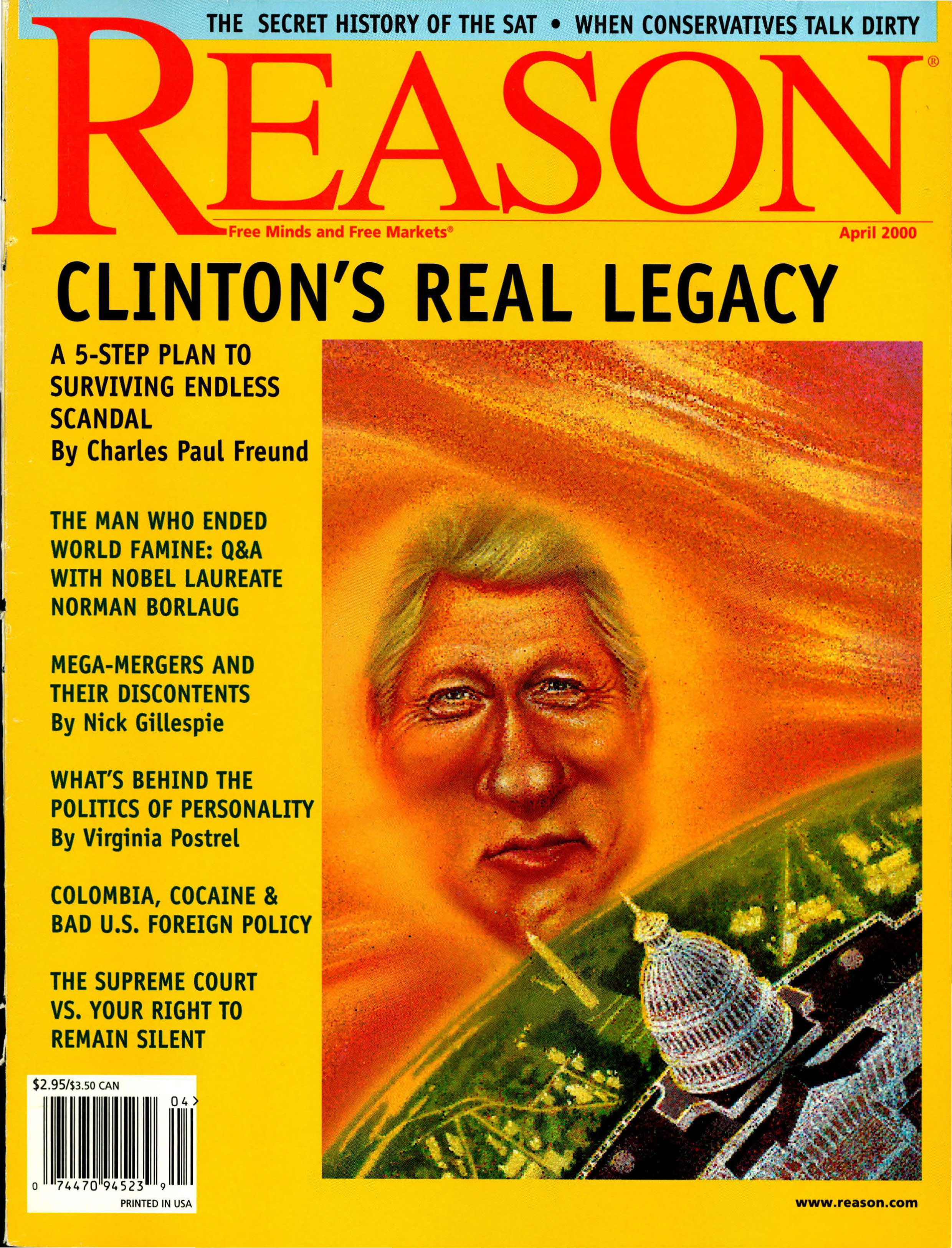 Reason Magazine, April 2000 cover image