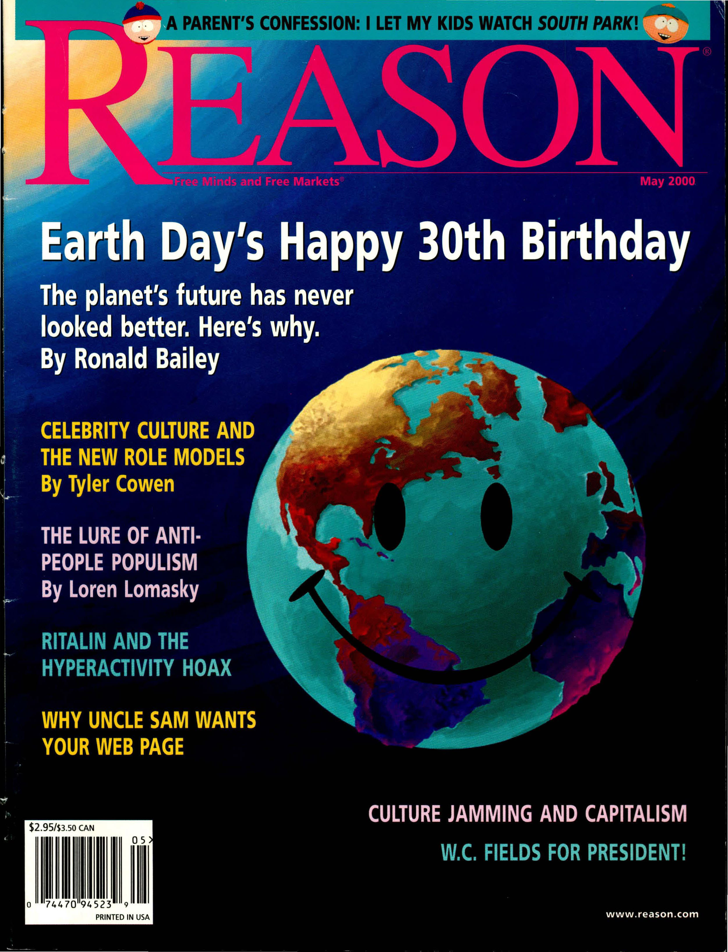Reason Magazine, May 2000 cover image