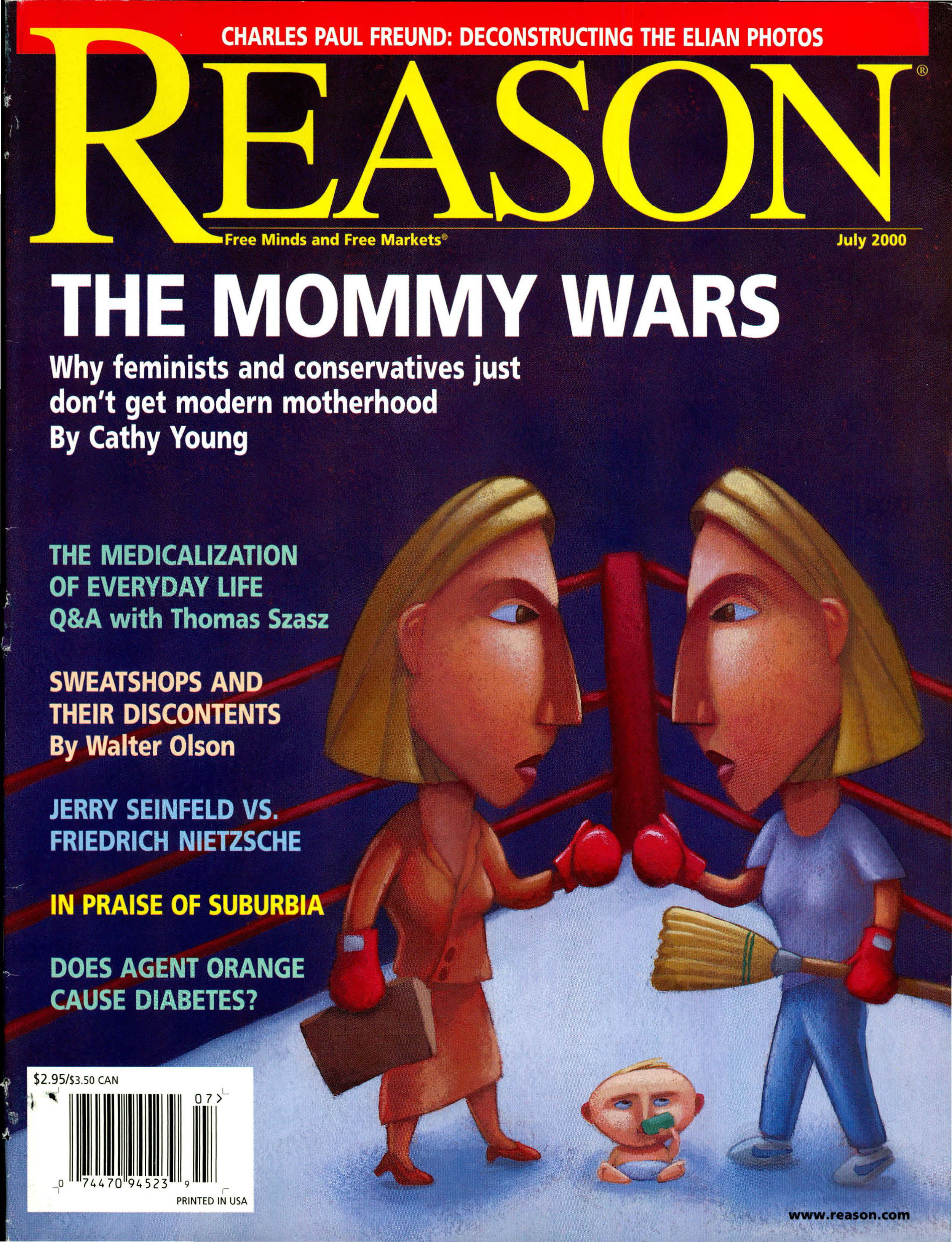 Reason Magazine, July 2000 cover image