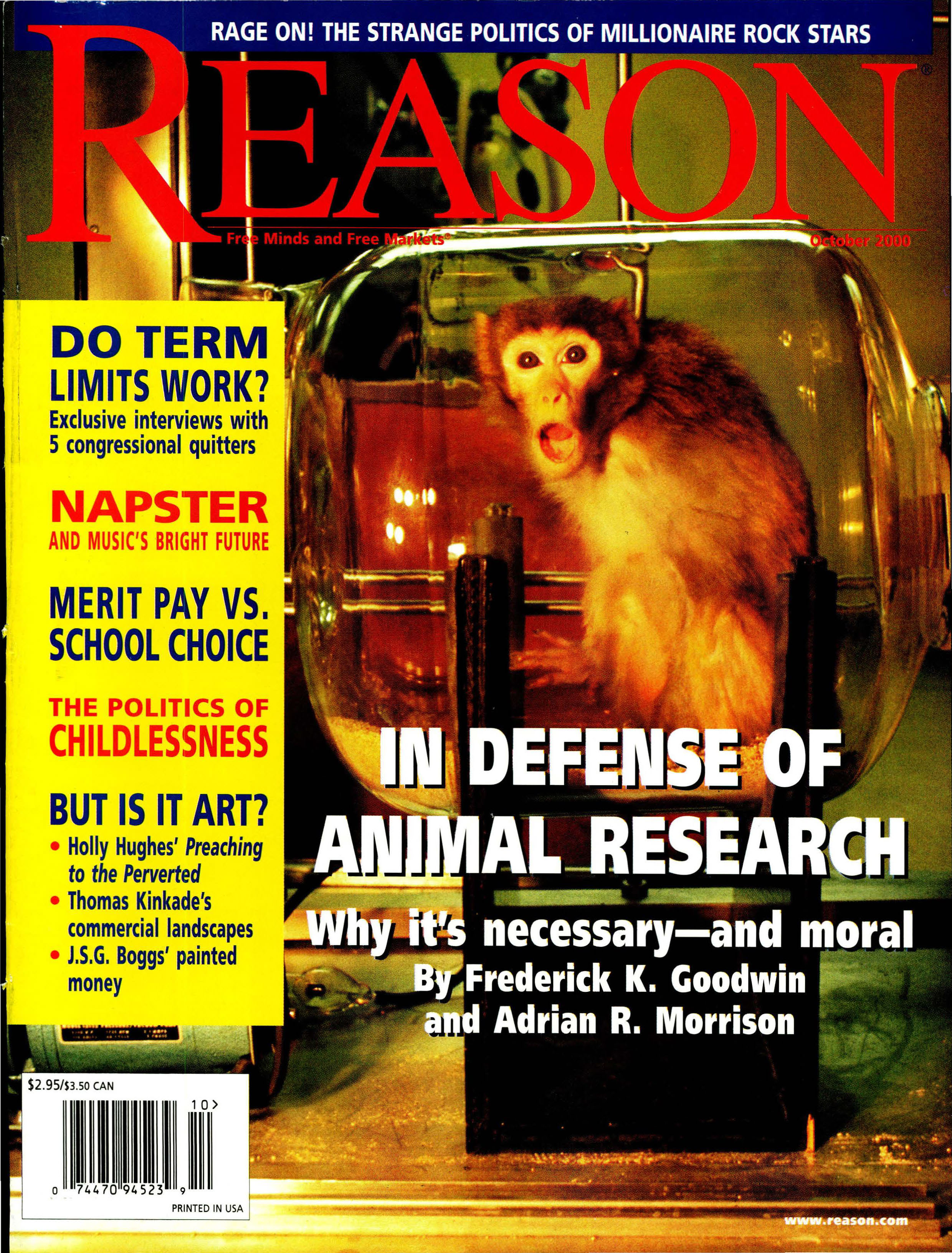 Reason Magazine, October 2000 cover image