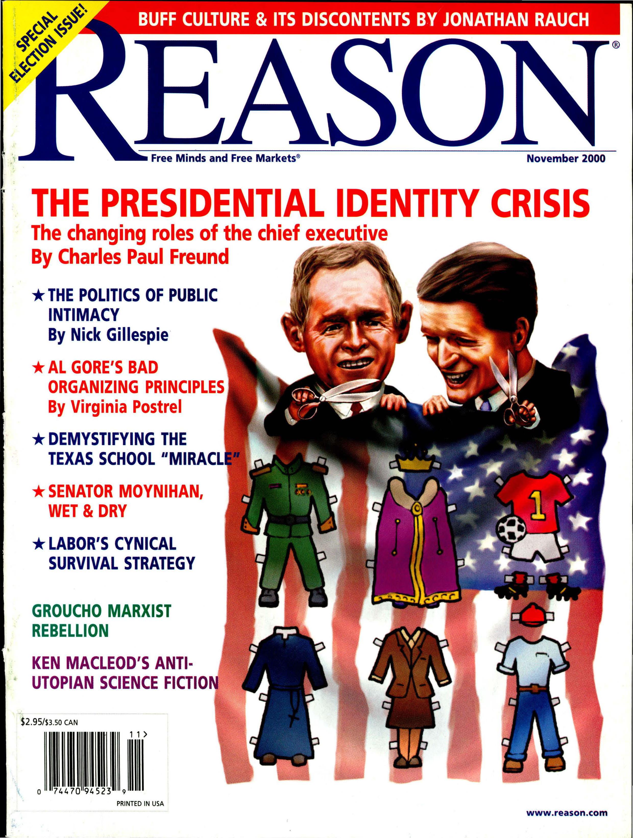 Reason Magazine, November 2000 cover image