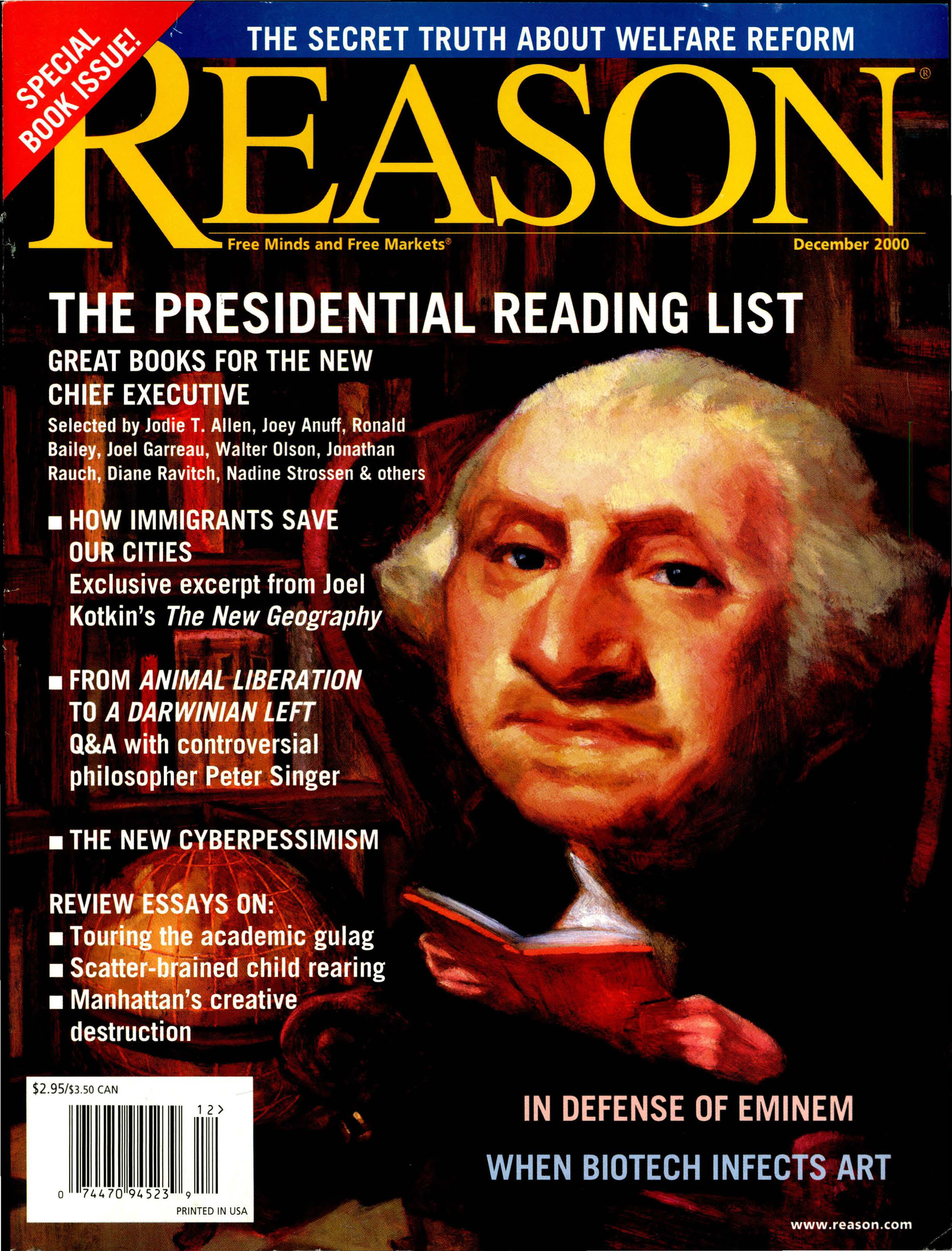 Reason Magazine, December 2000 cover image