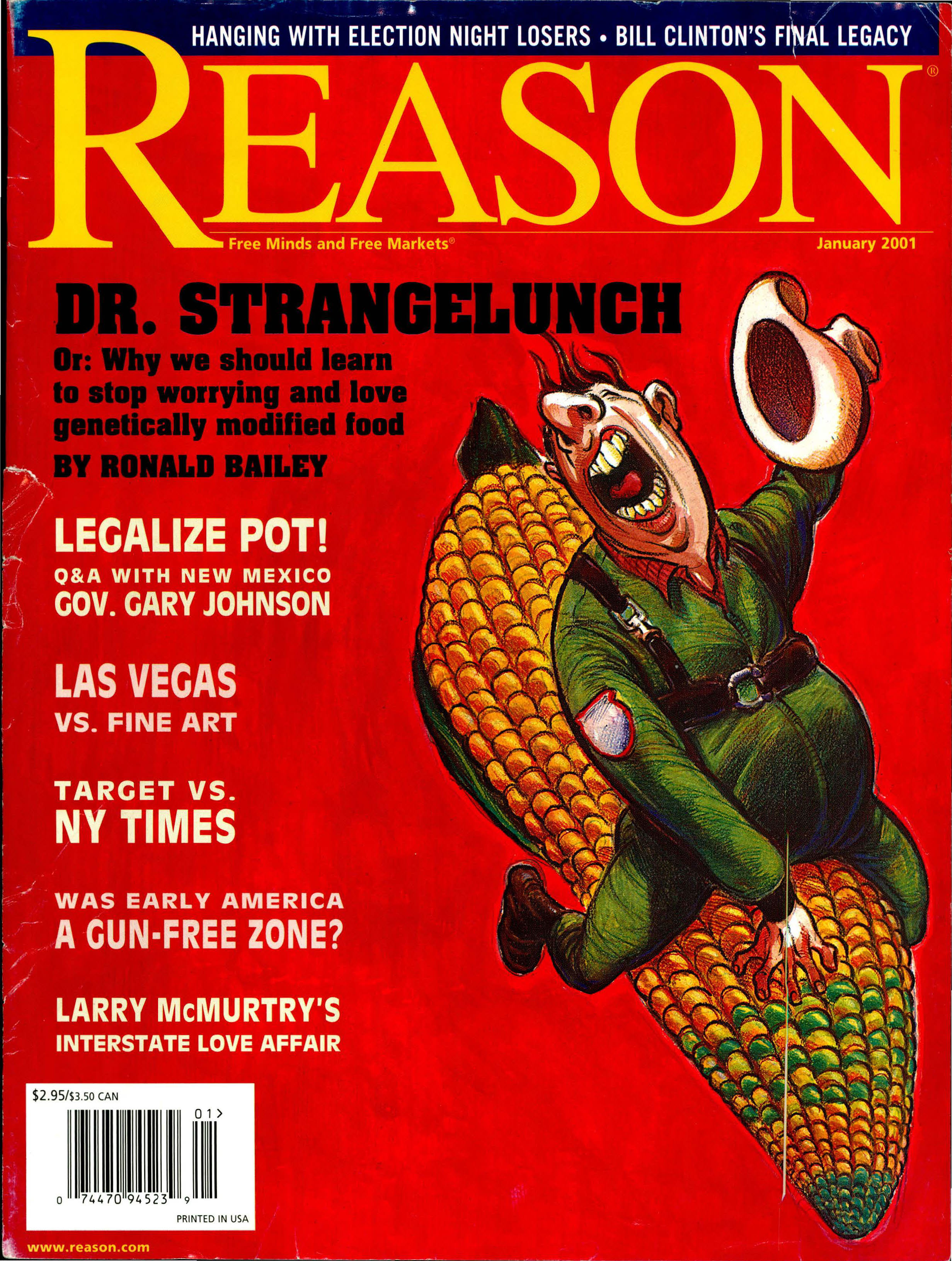 Reason Magazine, January 2001 cover image