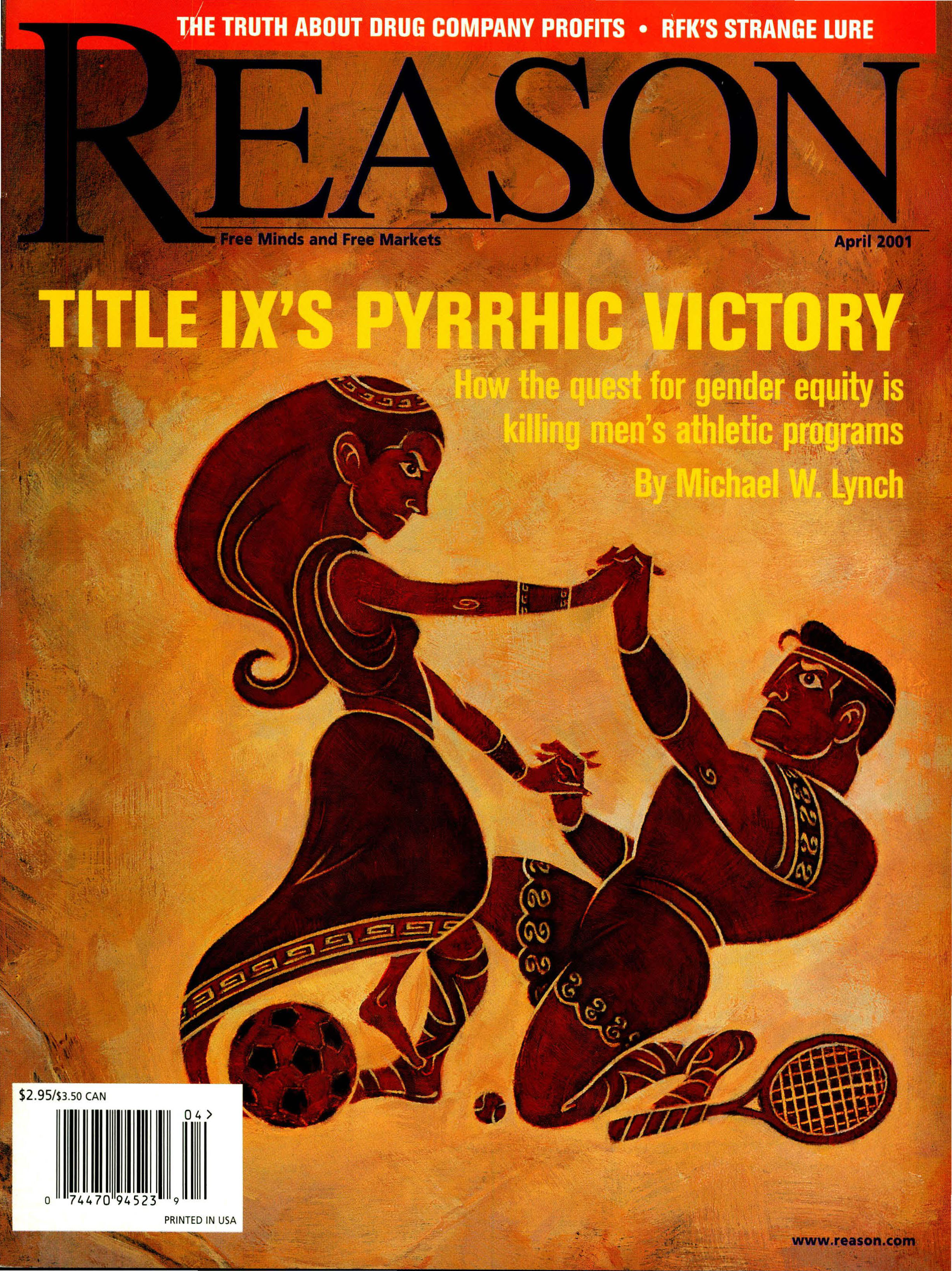 Reason Magazine, April 2001 cover image