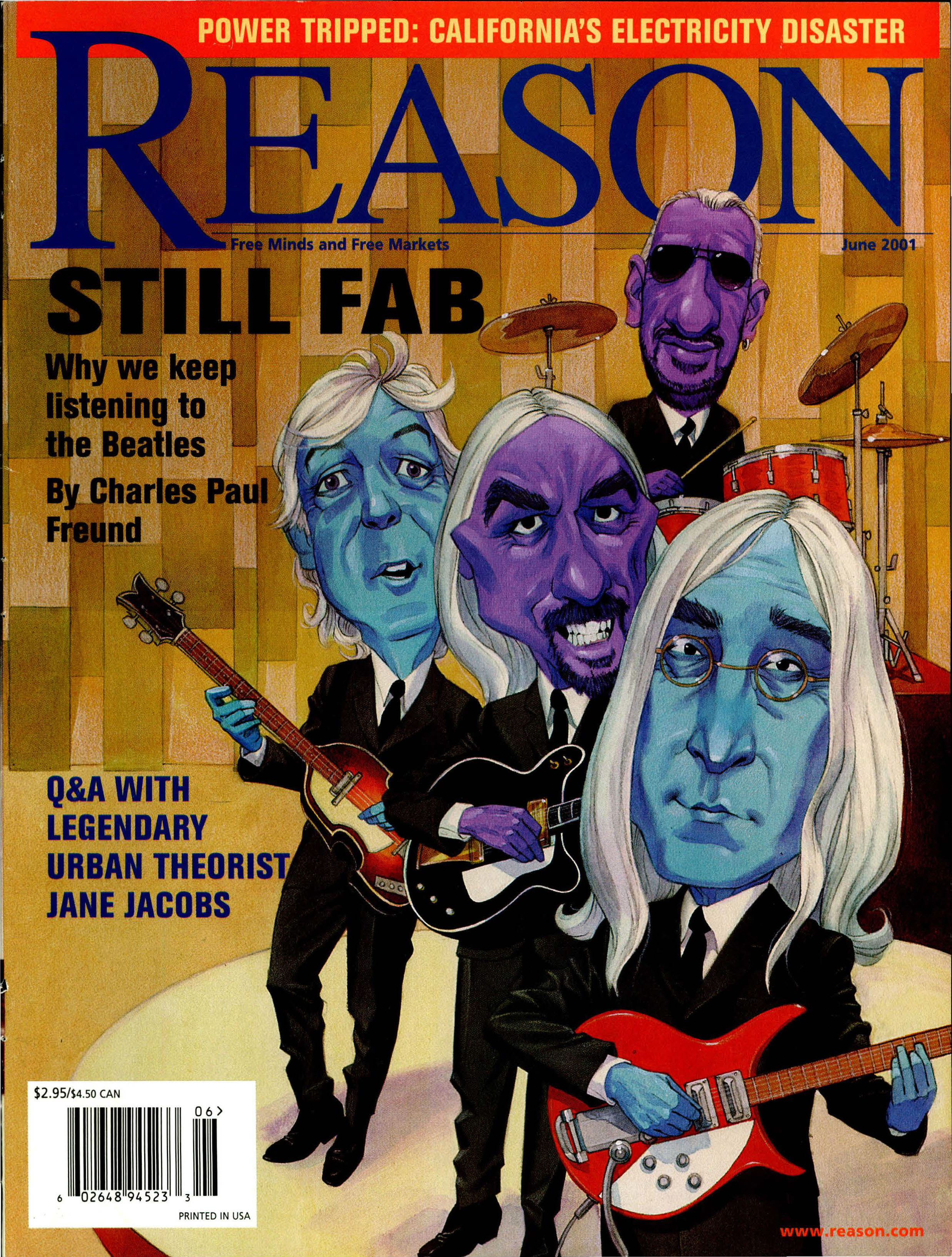 Reason Magazine, June 2001 cover image