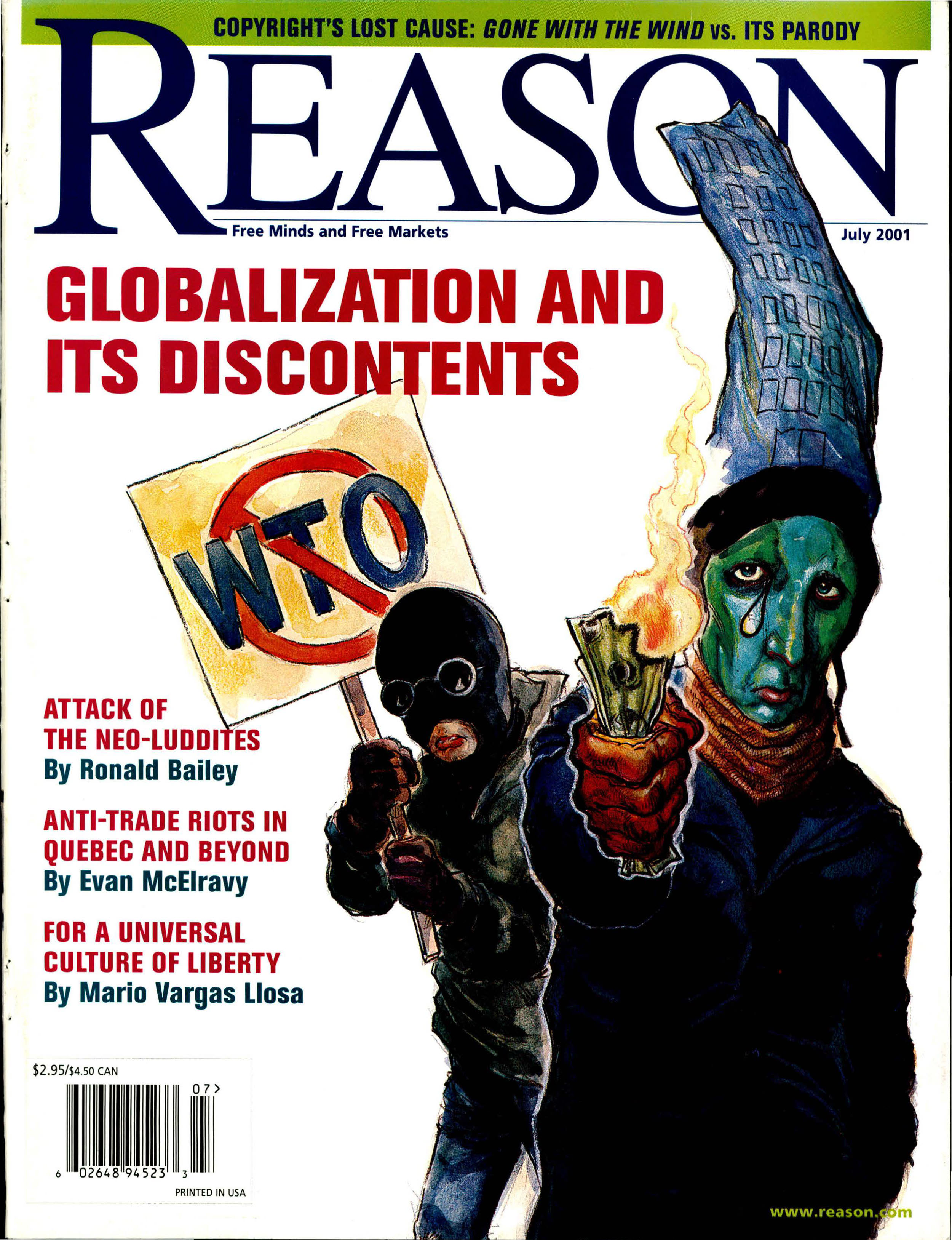 Reason Magazine, July 2001 cover image