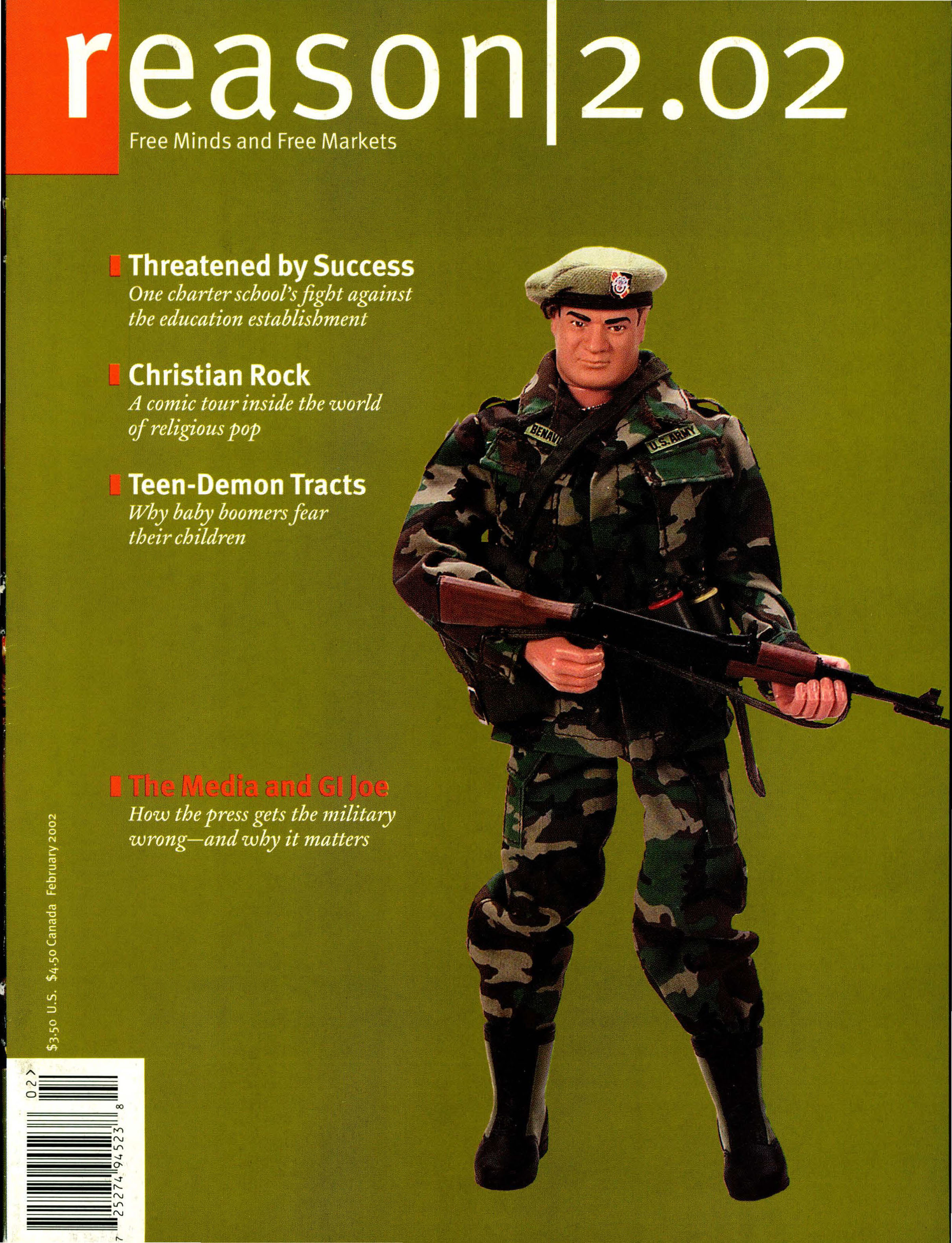 Reason Magazine, February 2002 cover image