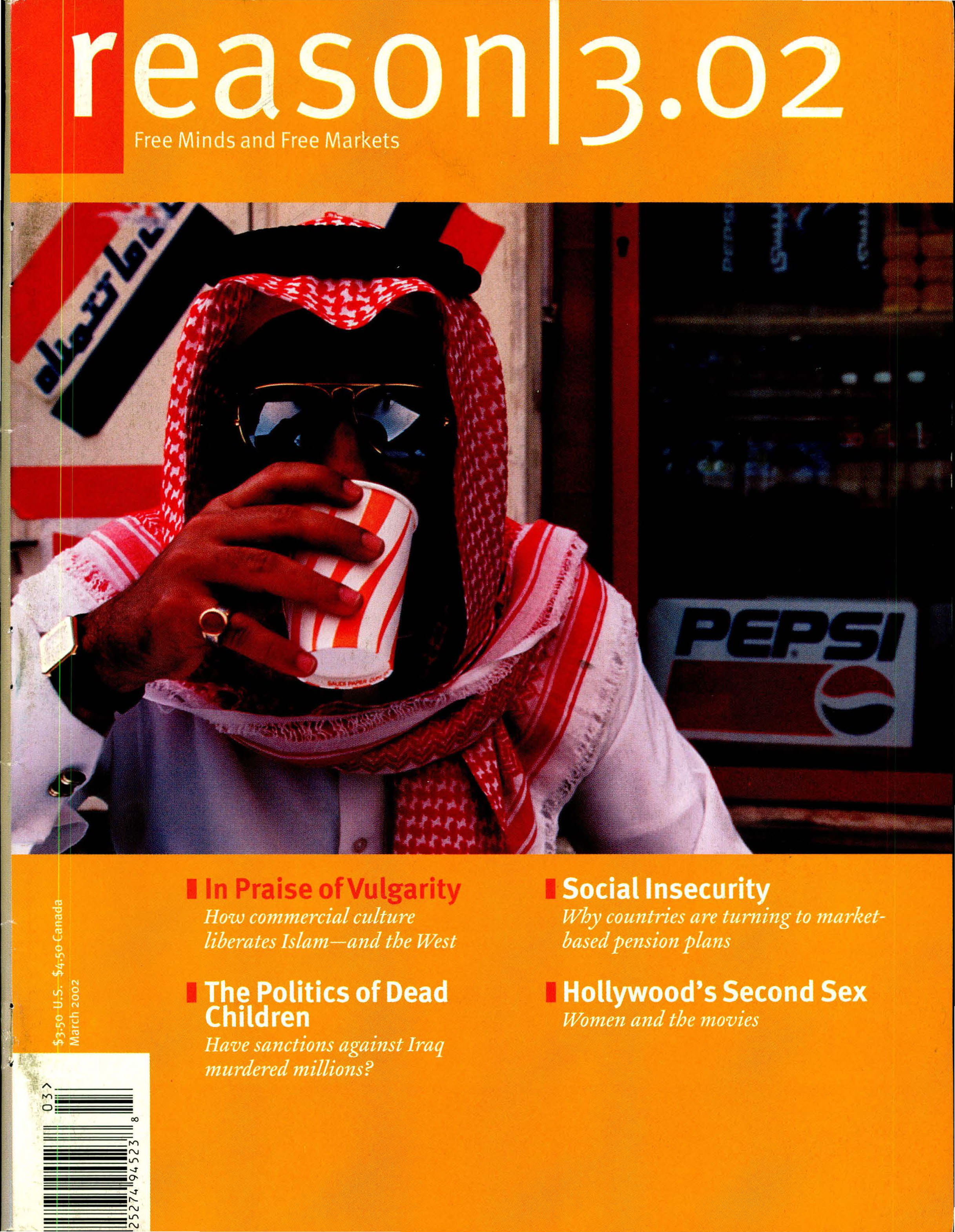 Reason Magazine, March 2002 cover image