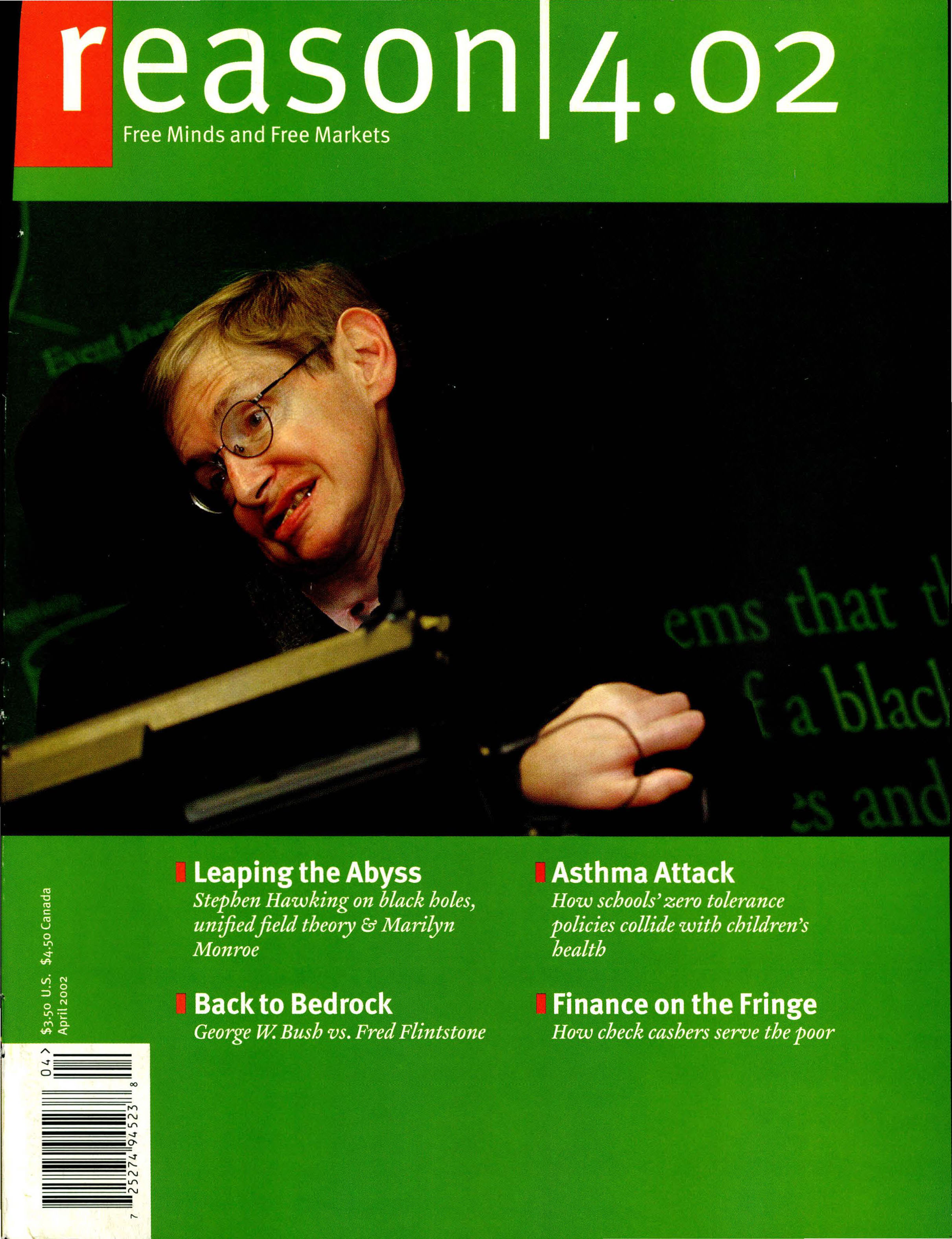 Reason Magazine, April 2002 cover image