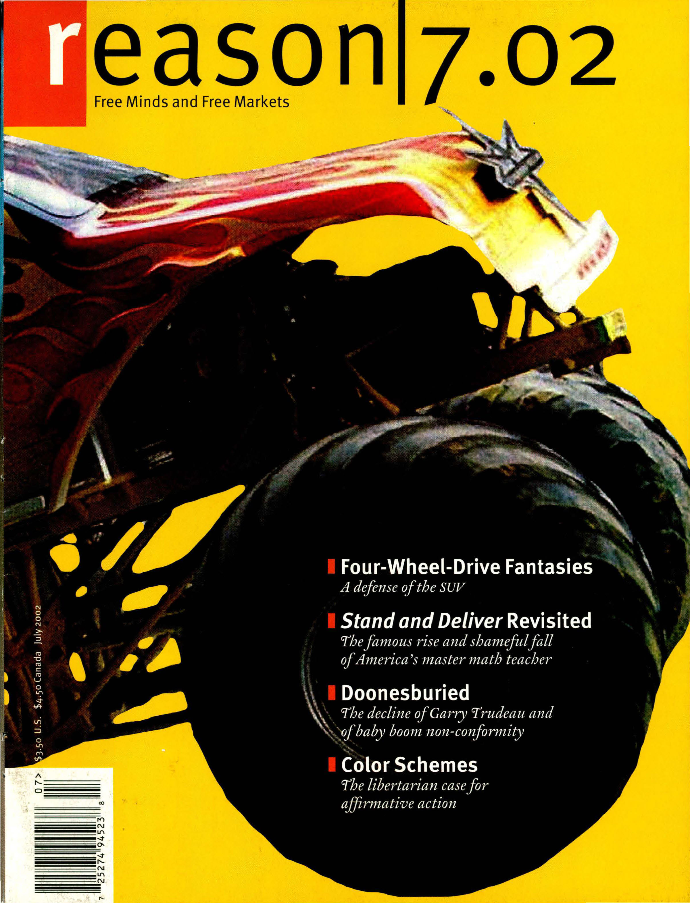 Reason Magazine, July 2002 cover image