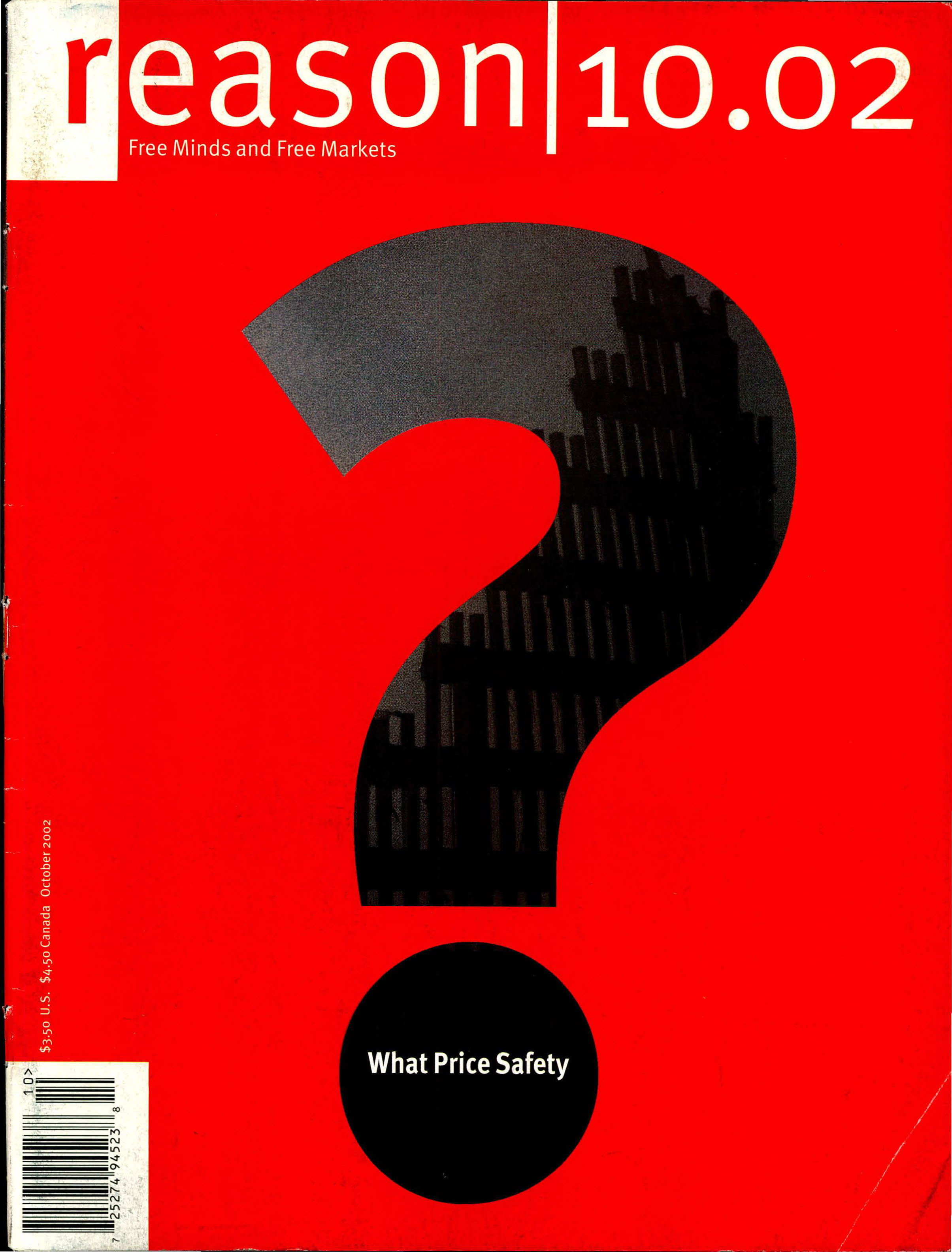 Reason Magazine, October 2002 cover image