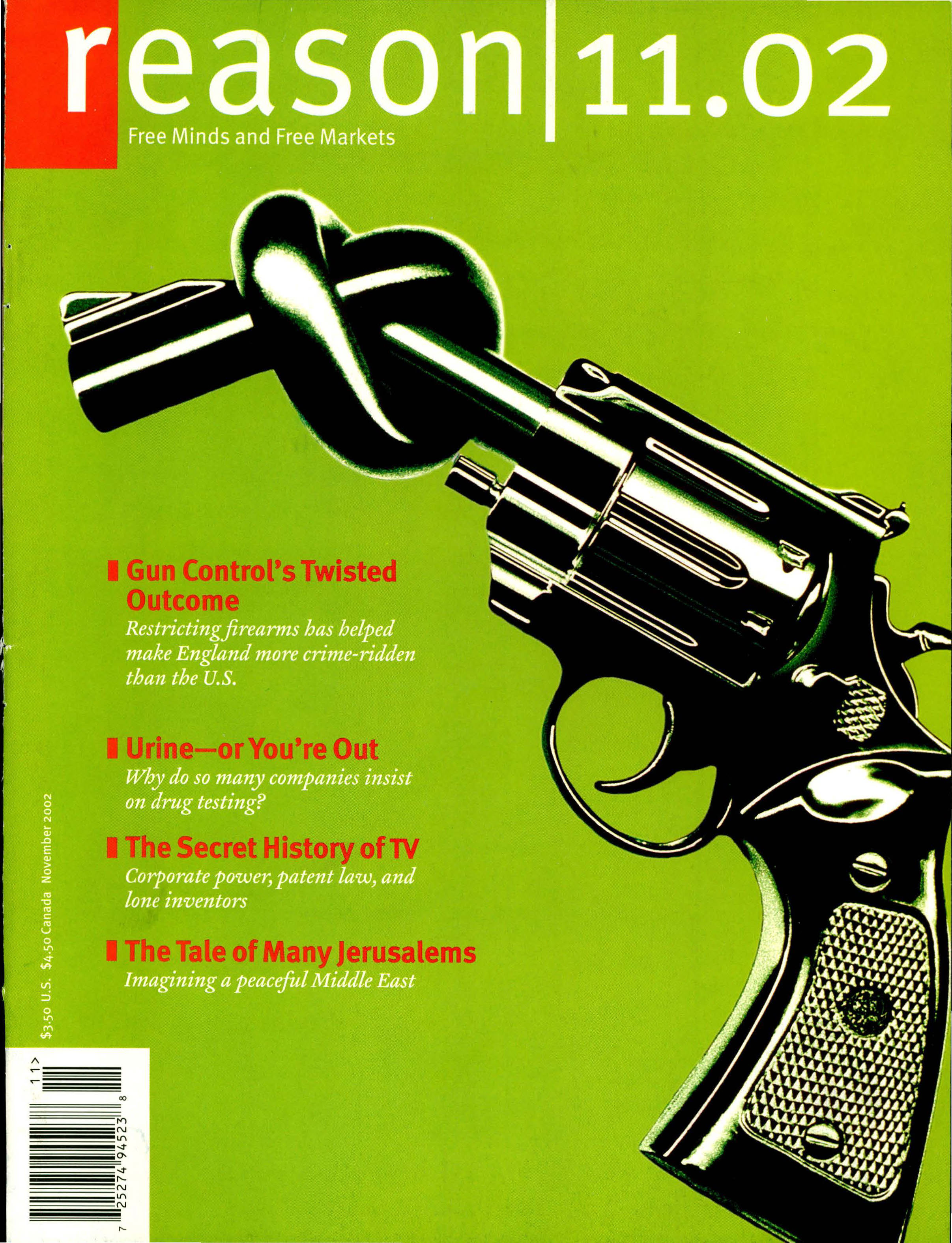 Reason Magazine, November 2002 cover image