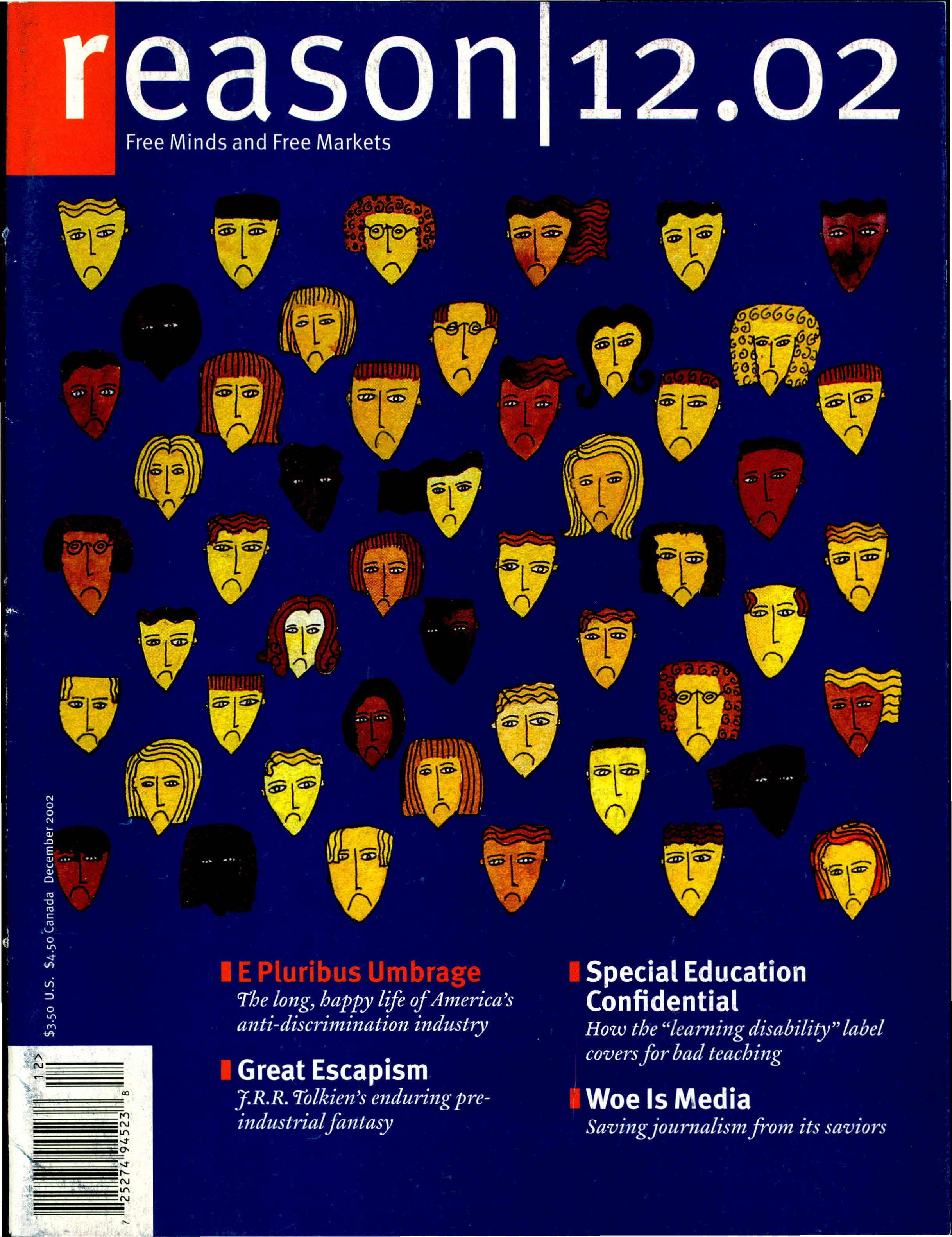 Reason Magazine, December 2002 cover image