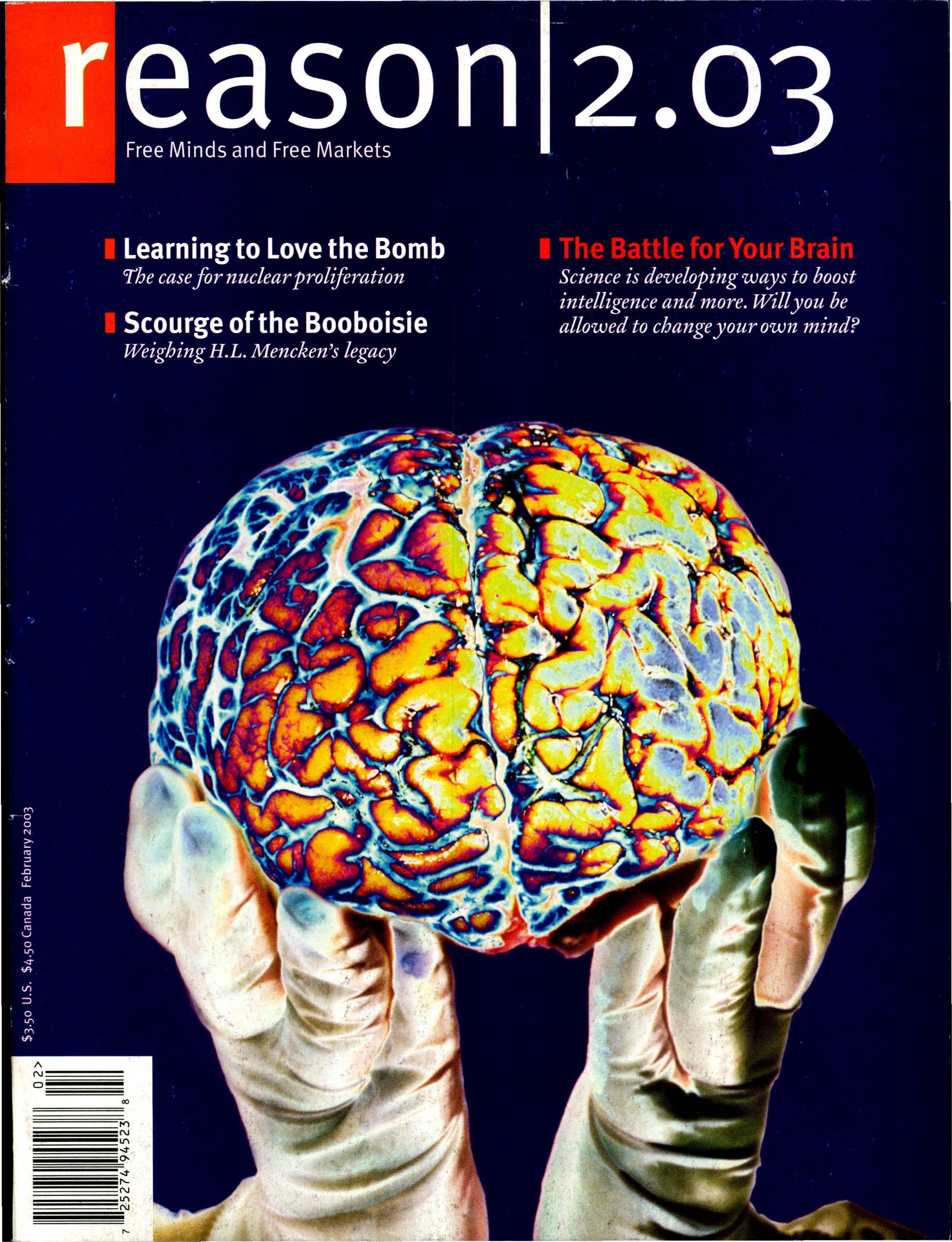 Reason Magazine, February 2003 cover image