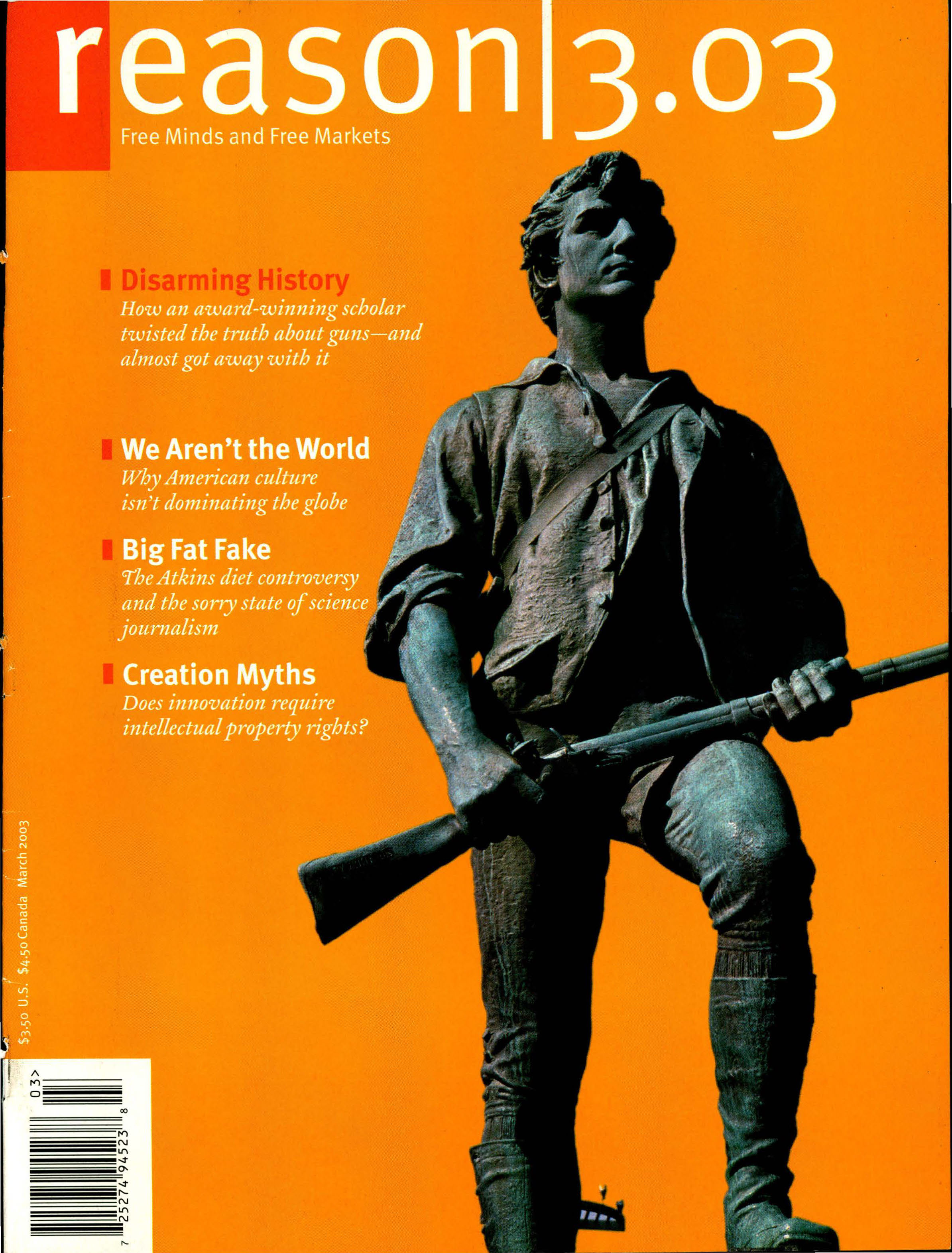 Reason Magazine, March 2003 cover image