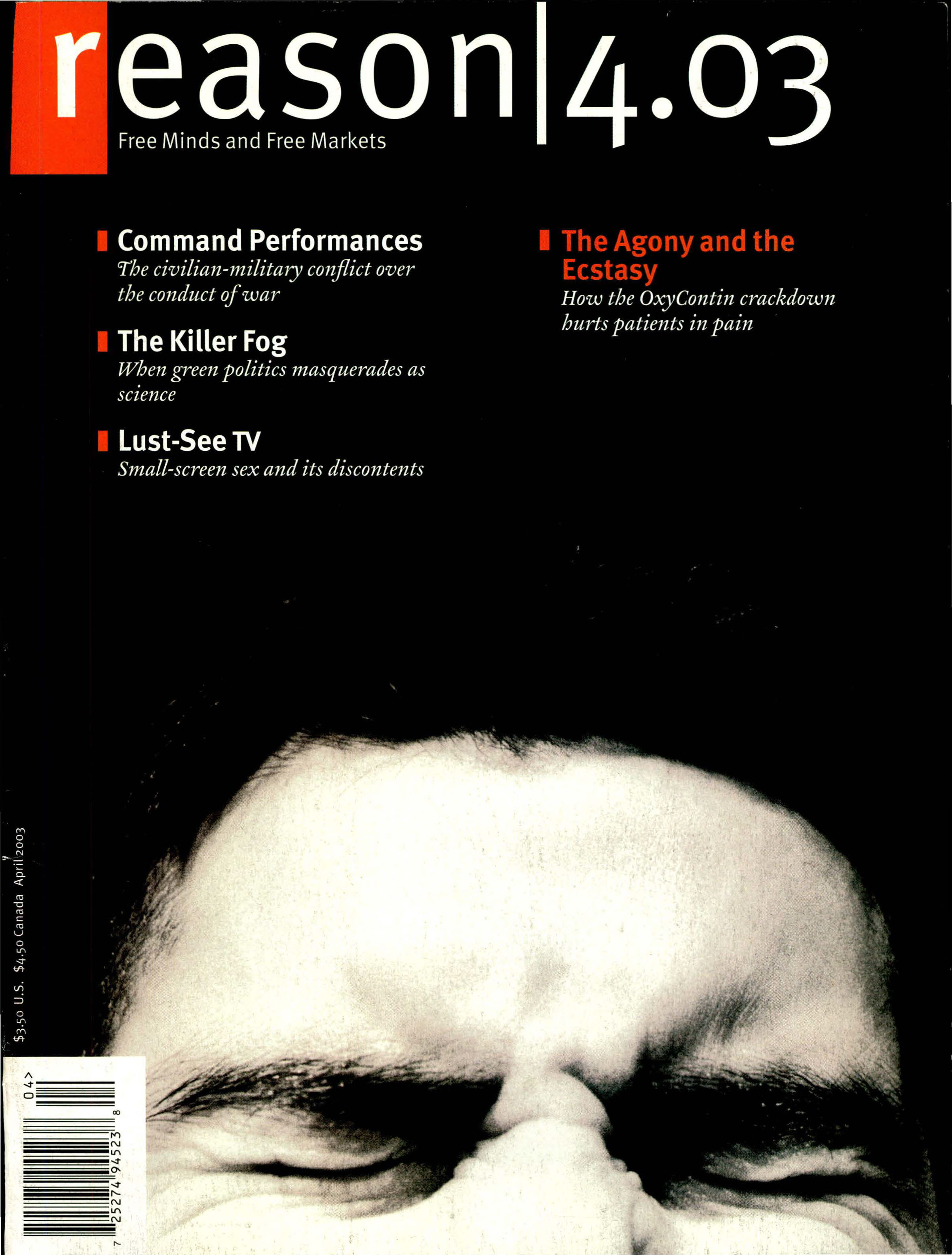 Reason Magazine, April 2003 cover image